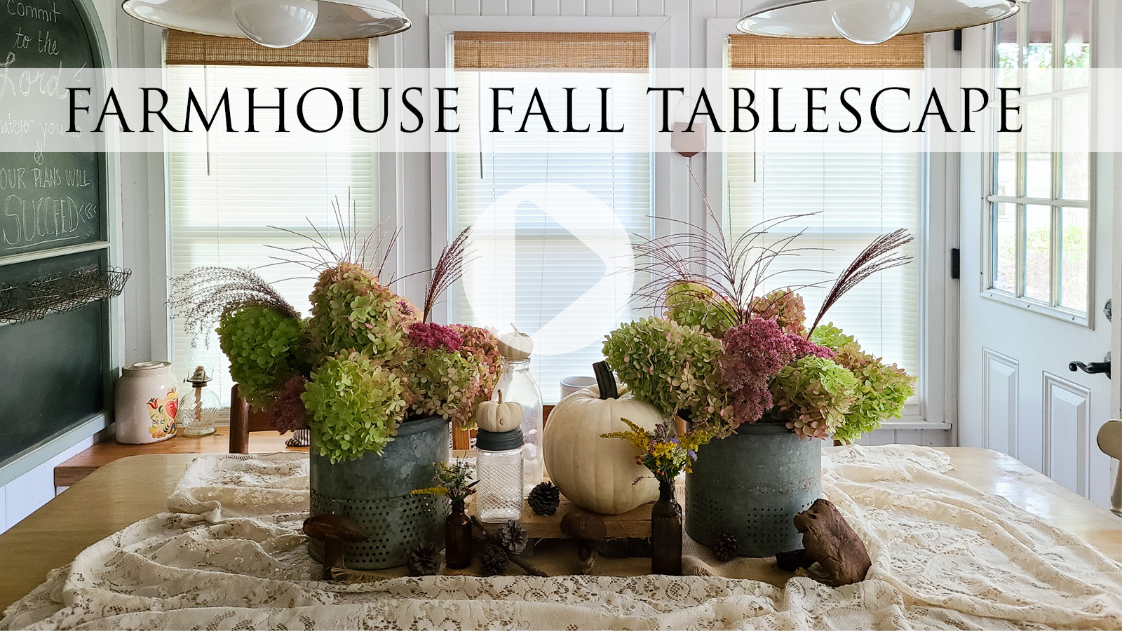 DIY Thrifted Fall Tablescape Video Tutorial by Larissa of Prodigal Pieces | prodigalpieces.com #prodigalpieces
