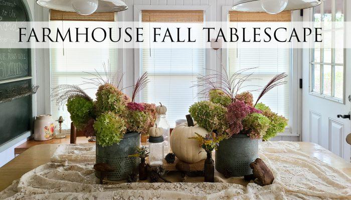 Simple Farmhouse Fall Tablescape