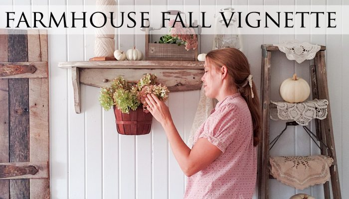 Farmhouse Fall Vignette from Thrifted Finds