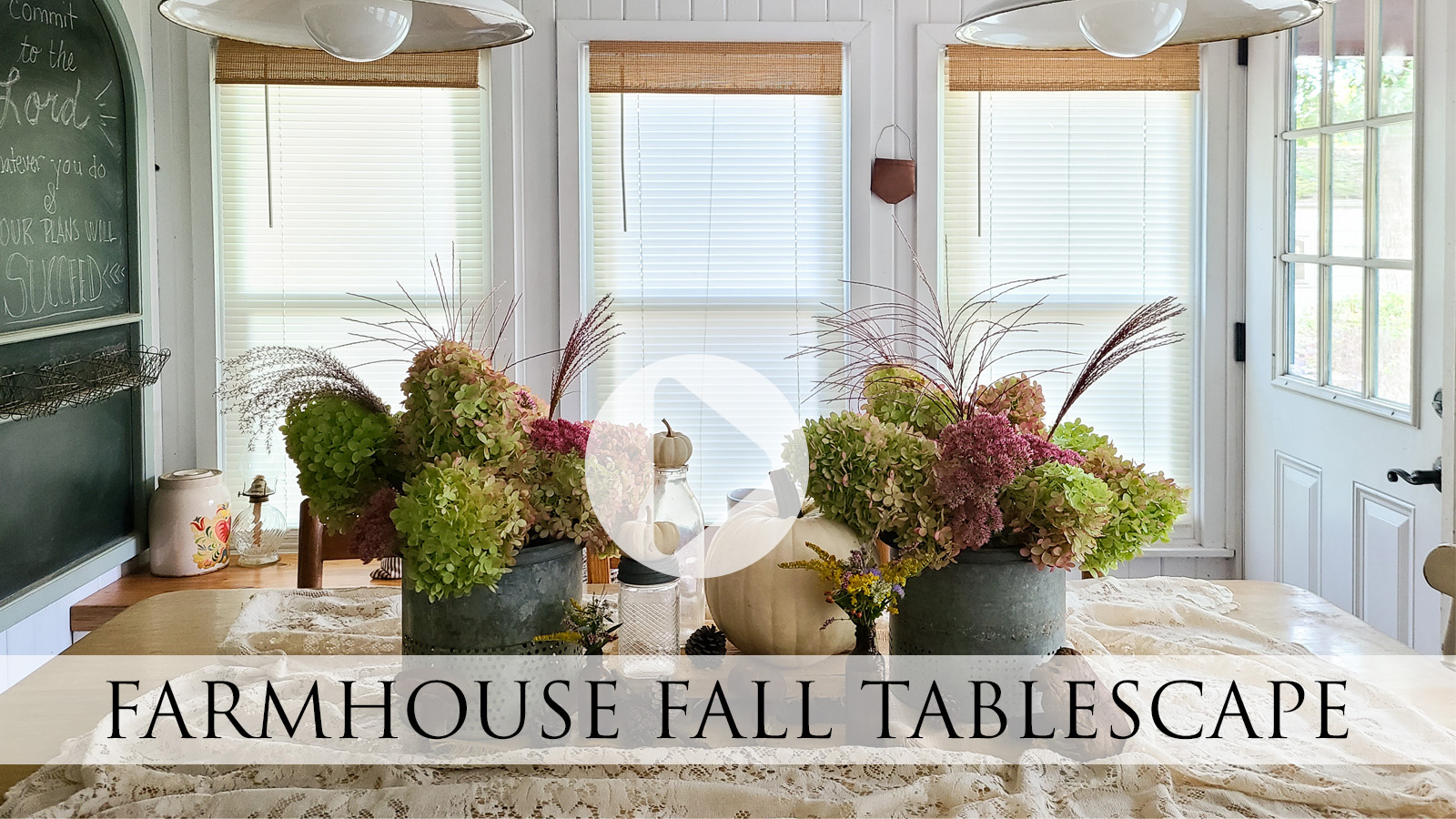DIY Video Tutorial for a Farmhouse Fall Tablescape by Larissa of Prodigal Pieces | prodigalpieces.com #prodigalpieces