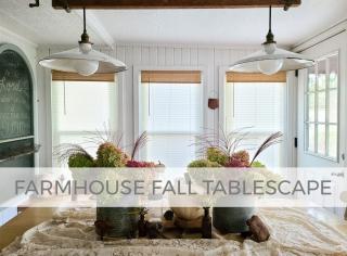 Farmhouse Fall Tablescape by Larissa of Prodigal Pieces | prodigalpieces.com #prodigalpieces