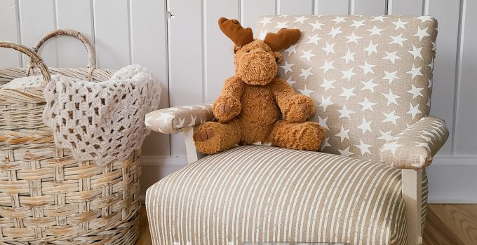 Child's Upholstered Rocking Chair Makeover