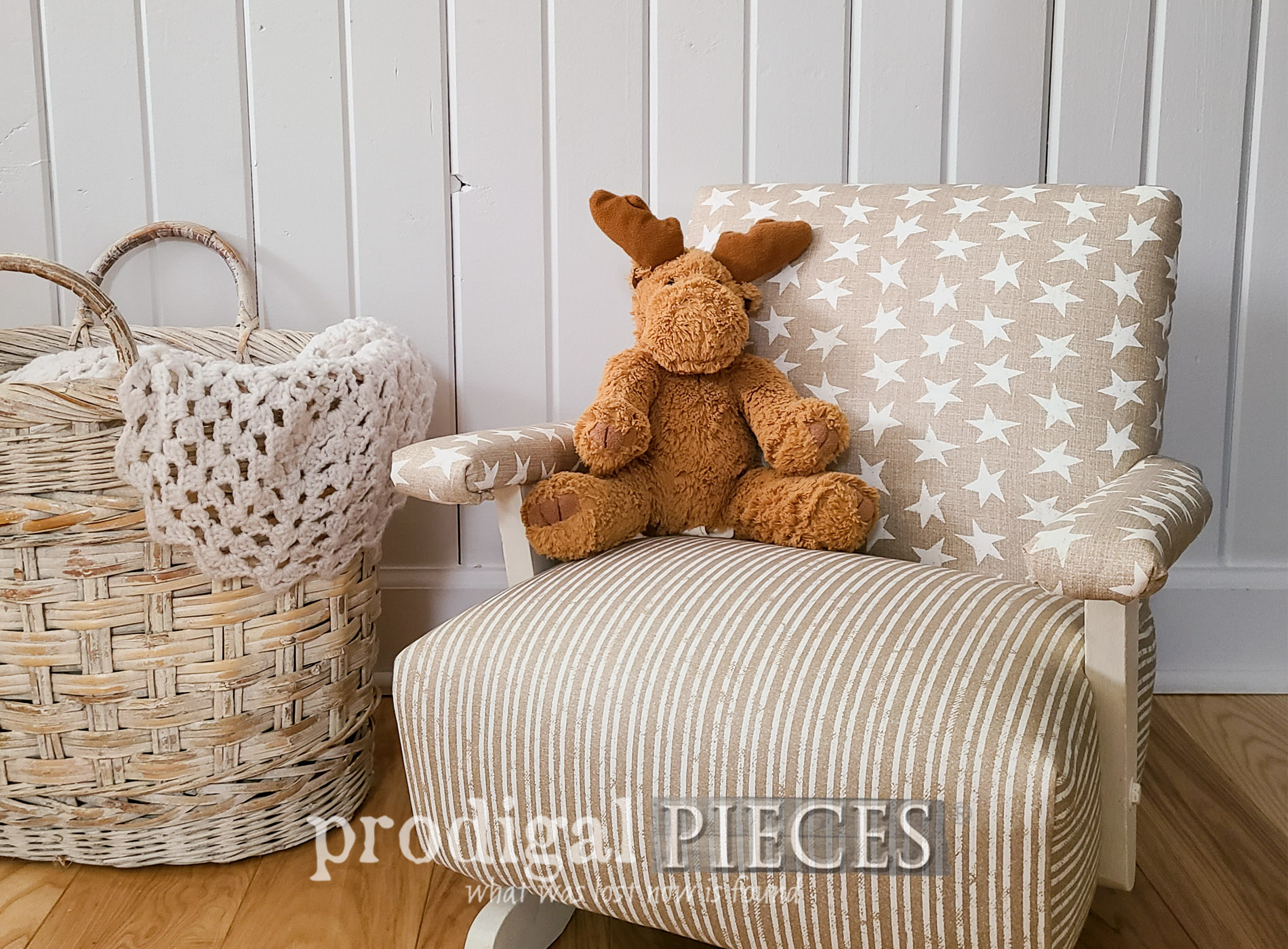 Featured Child's Upholstered Rocking Chair by Larissa of Prodigal Pieces | prodigalpieces.com #prodigalpieces #diy #furniture #kids #home #homedecor