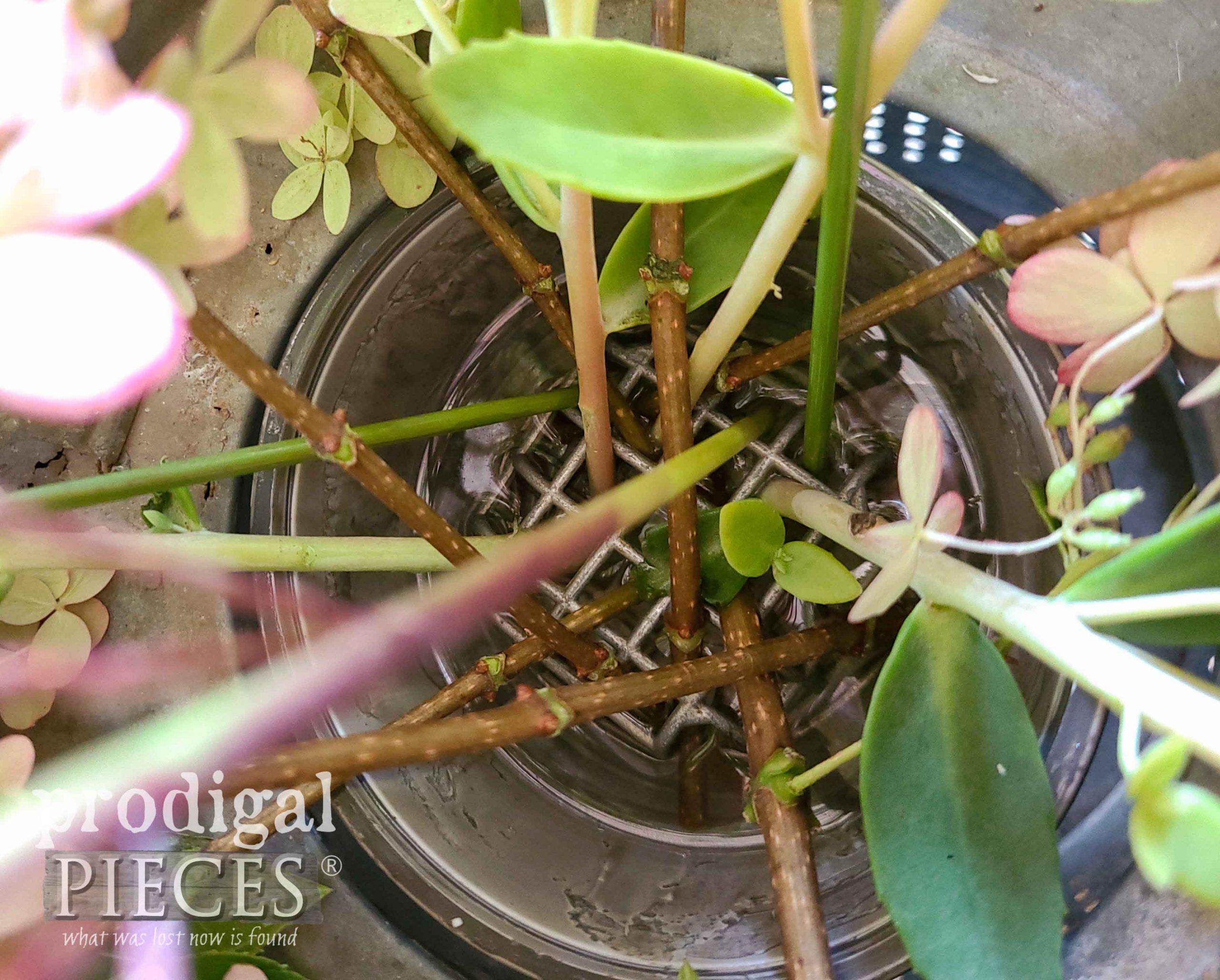 Flower Frog for Farmhouse Tablescape | prodigalpieces.com #prodigalpieces
