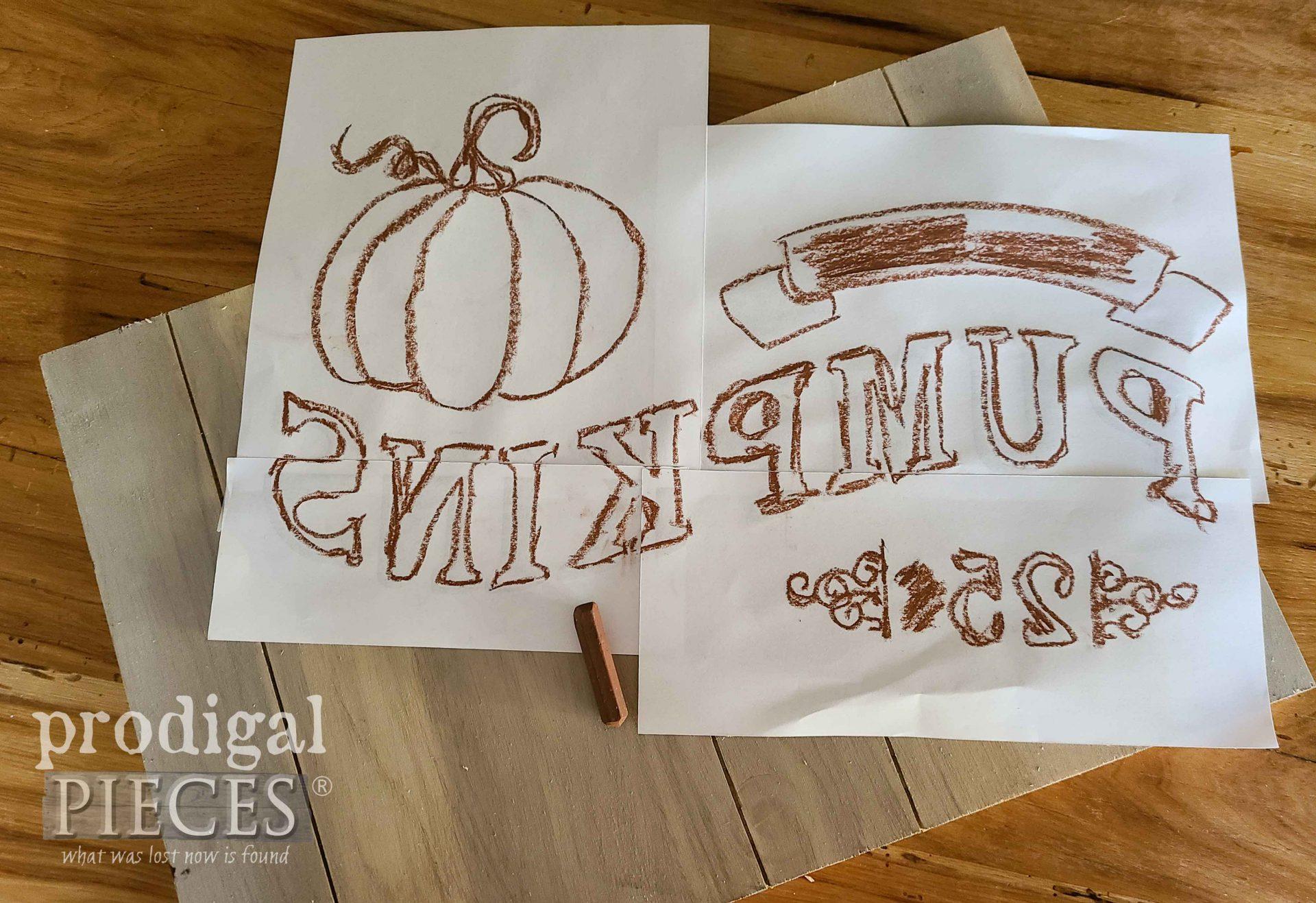 Image Transfer for DIY Harvest Sign by Larissa of Prodigal Pieces | prodigalpieces.com
