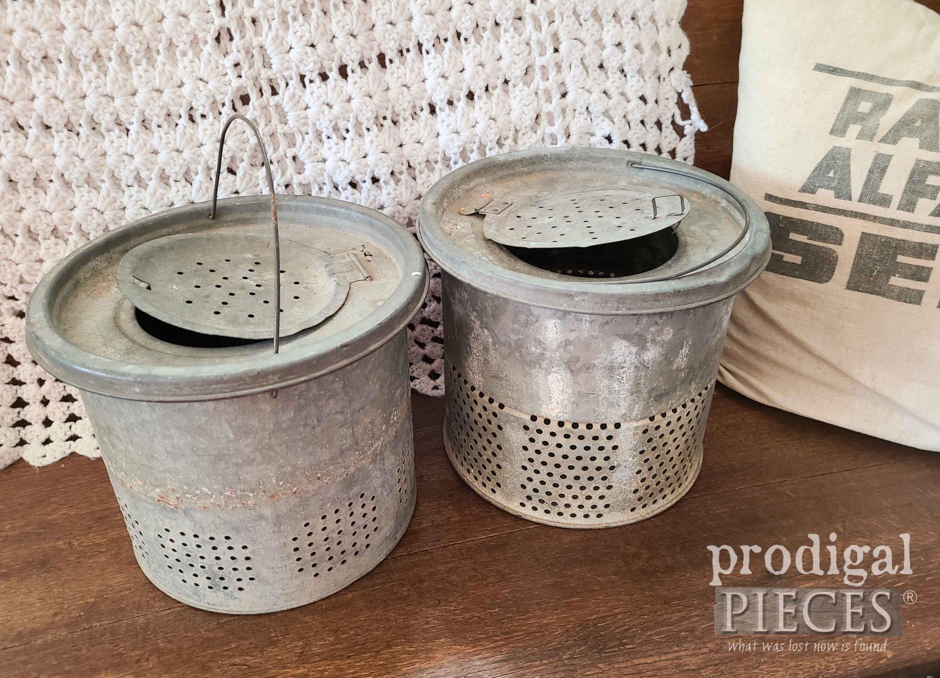Vintage Minnow Buckets for Home Decor | prodigalpieces.com