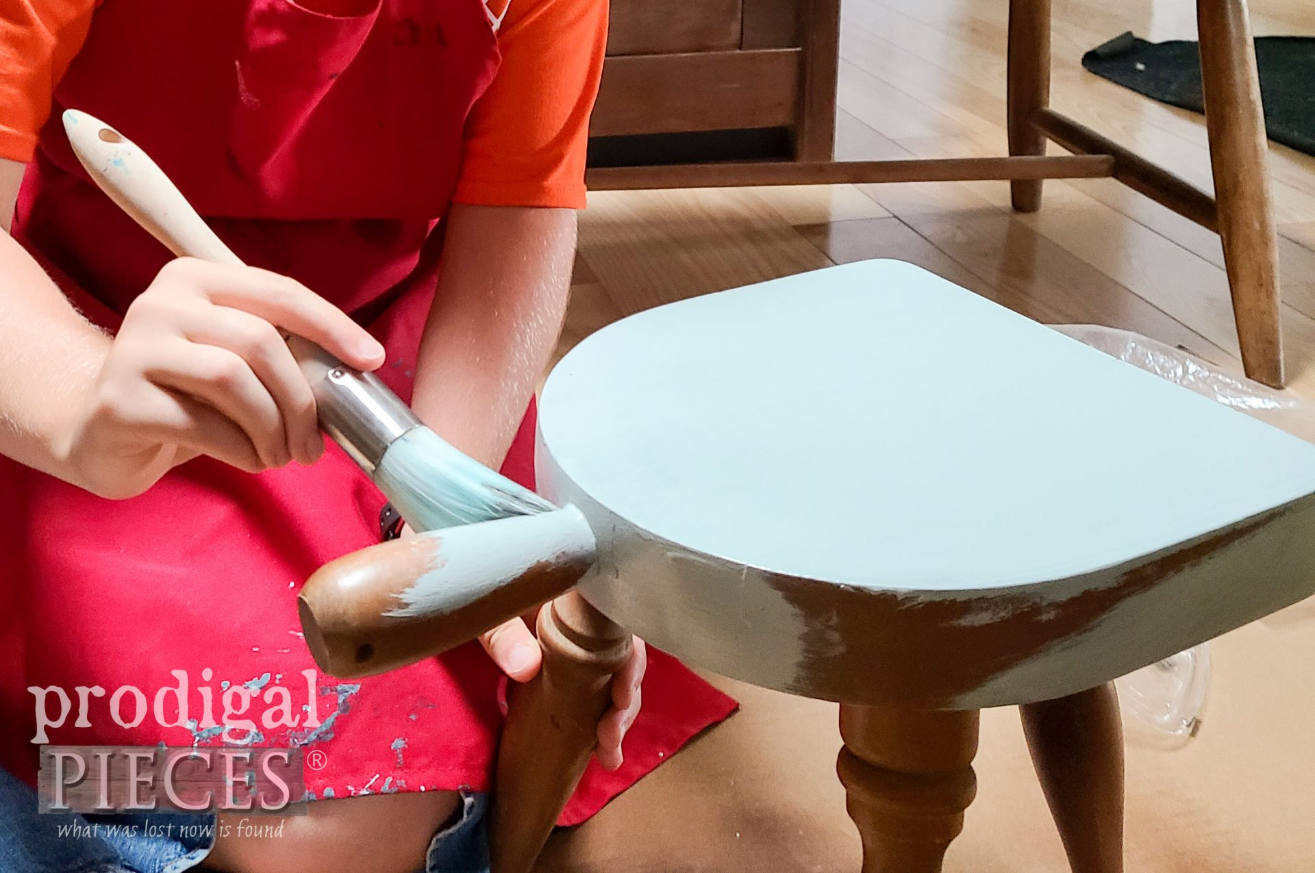 Painting Farmhouse Milking Stool by Prodigal Pieces | prodigalpieces.com