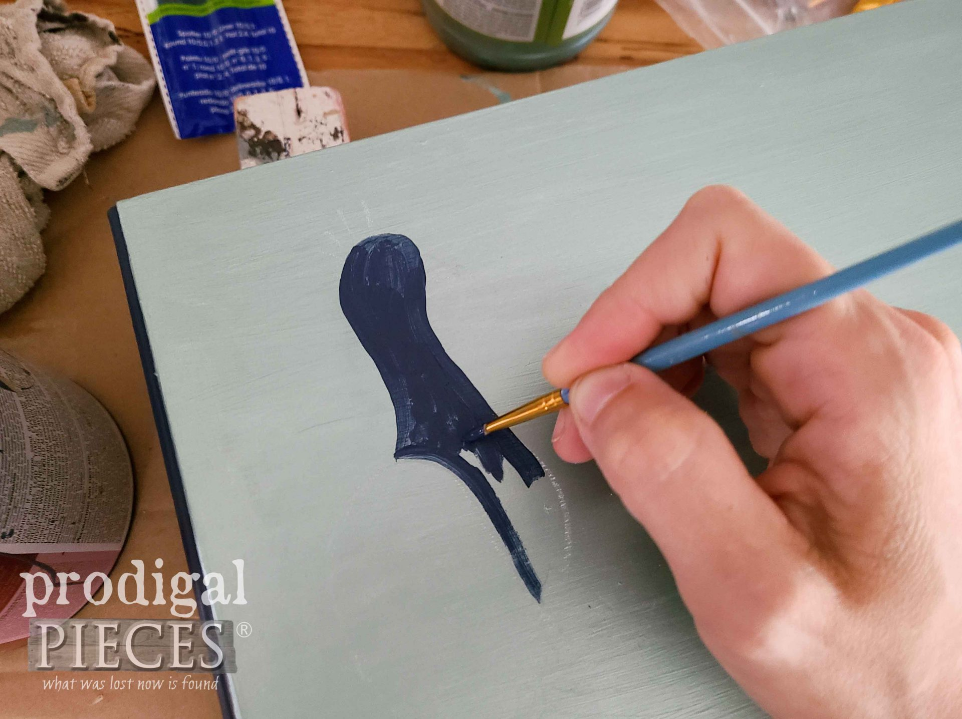 Hand-Painting a Peacock | prodigalpieces.com
