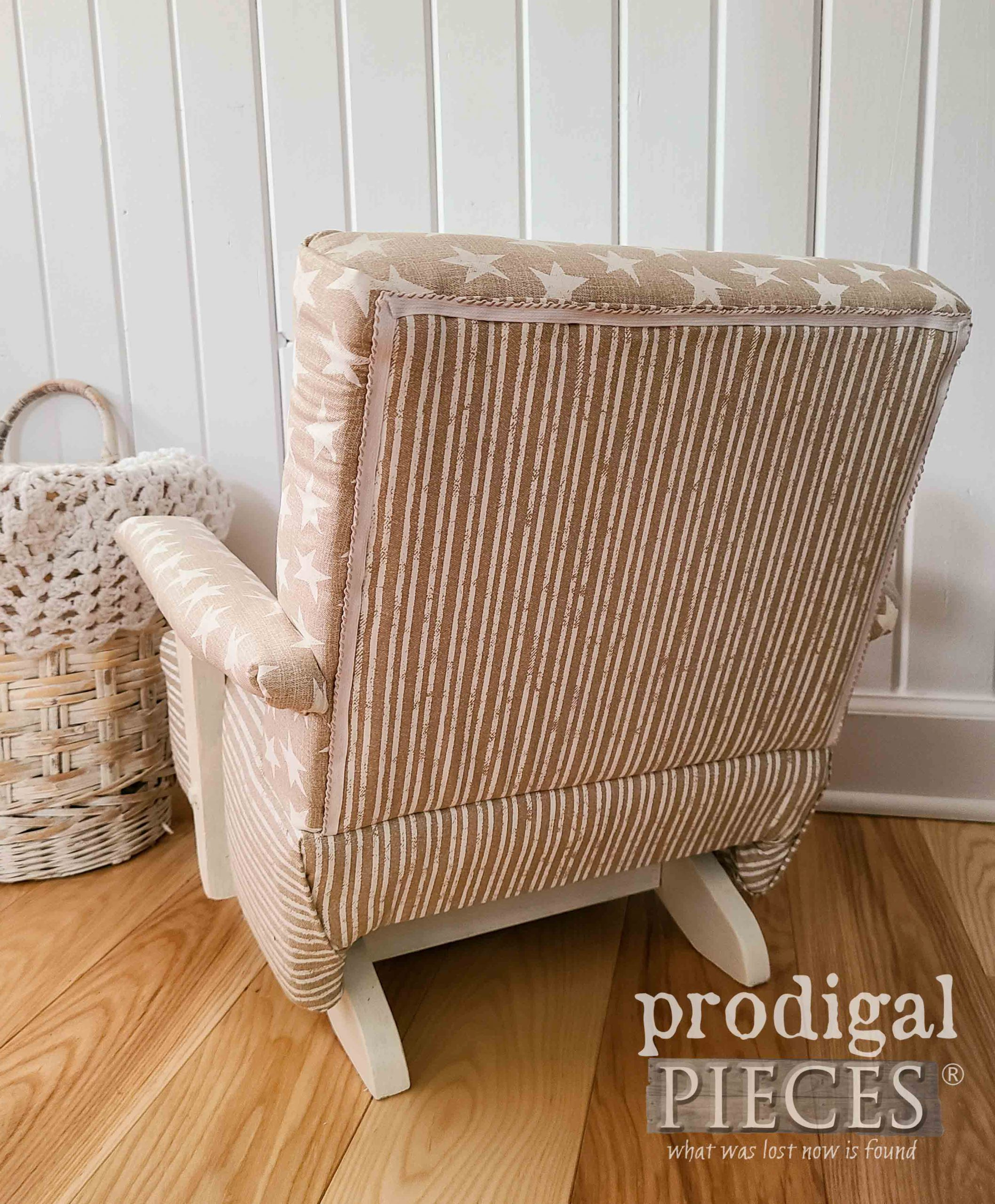 Back Design of Child's Upholstered Rocking Chair by Larissa of Prodigal Pieces | prodigalpieces.com #prodigalpieces #diy #home #homedecor #upholstery