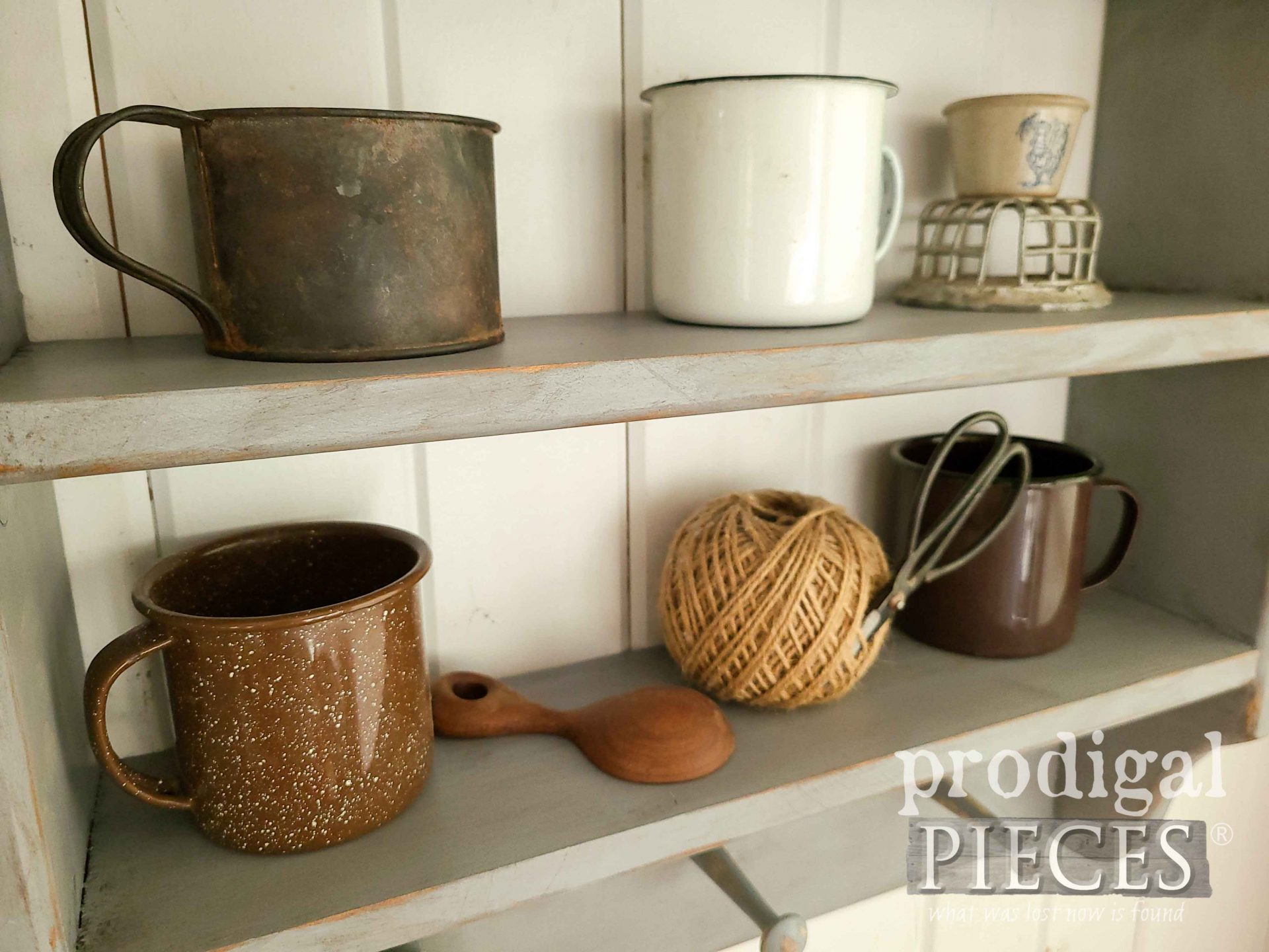 Rustic Antique Tin Cup Collection by Prodigal Pieces | prodigalpieces.com #prodigalpieces #farmhouse #home
