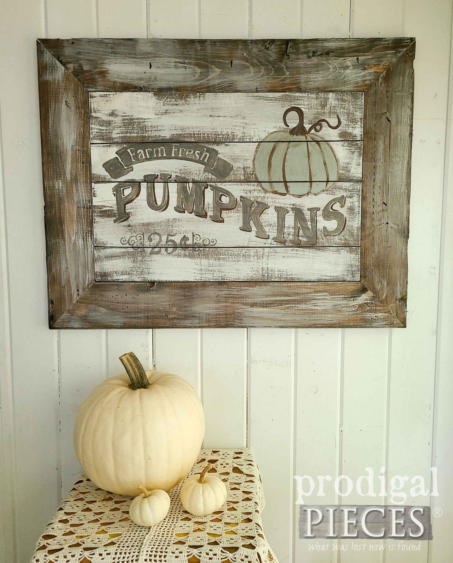 Rustic Chic Farmhouse Harvest Sign by Prodigal Pieces | prodigalpieces.com #prodigalpieces #diy #harvest #farmhouse #diy #home #homedecor