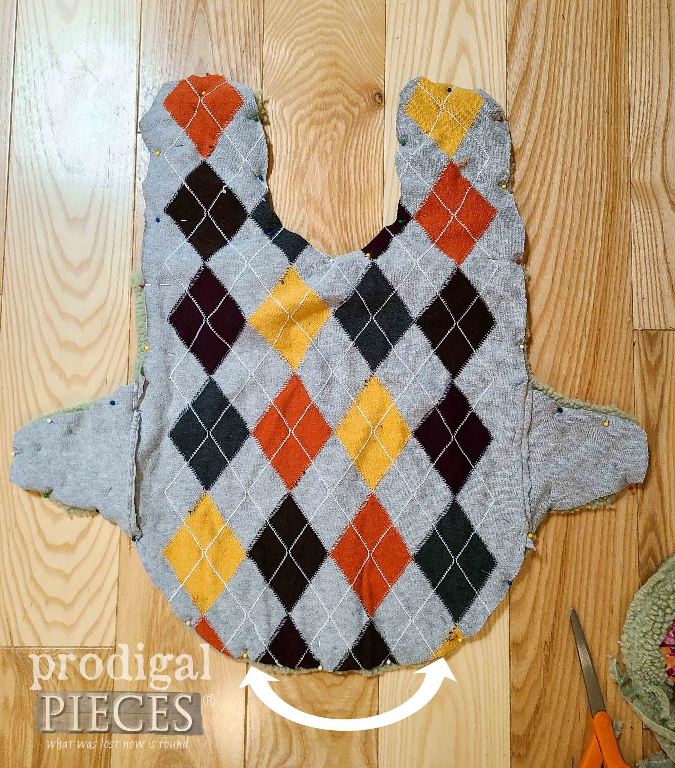 Stitch Pattern for DIY Dog Coat from Upcycled Sweaters by Larissa of Prodigal Pieces | prodigalpieces.com