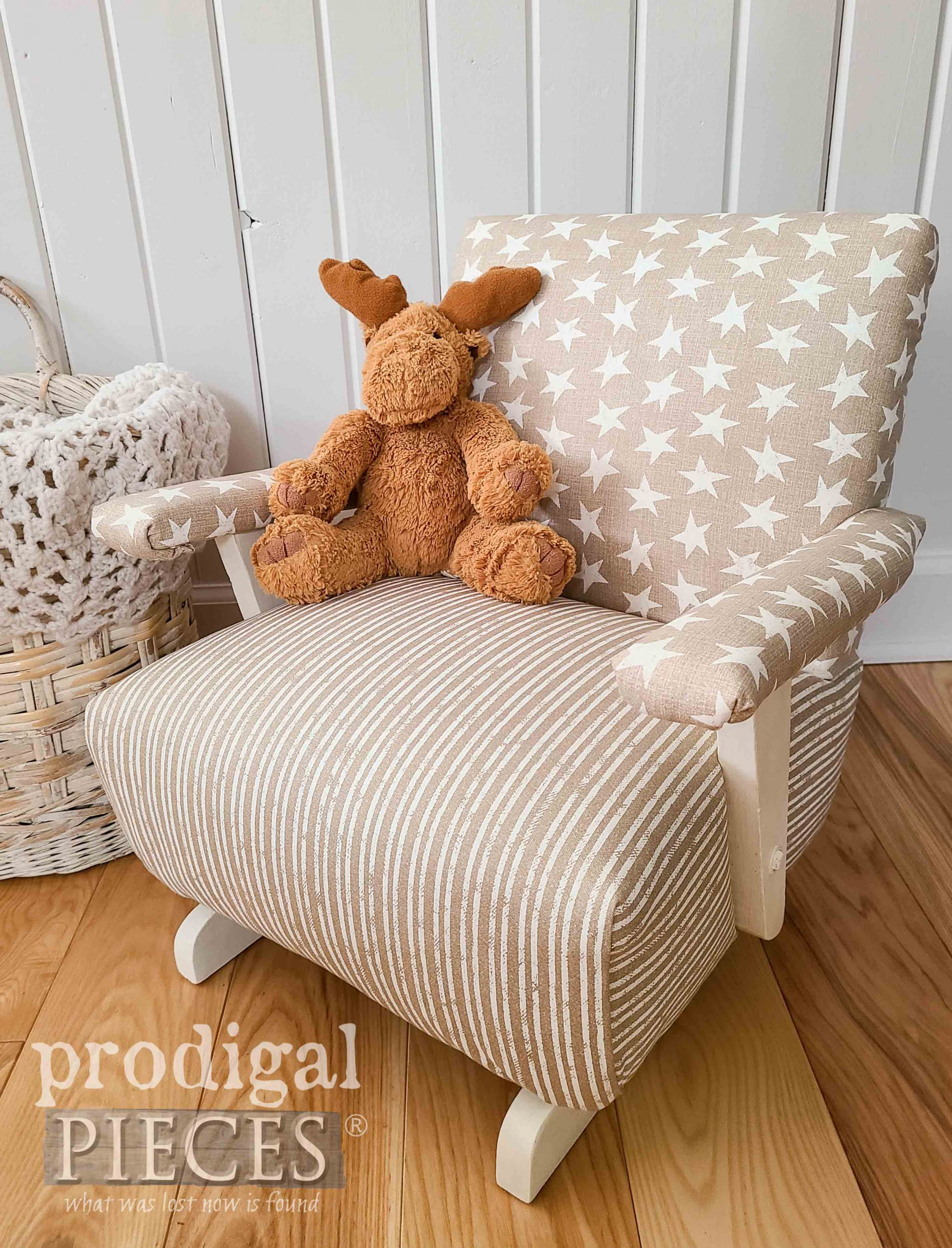 Upholstered Kids Rocker with Modern Farmhouse Style by Prodigal Pieces | prodigalpieces.com #prodigalpieces #diy #home #homedecor #furniture #vintage