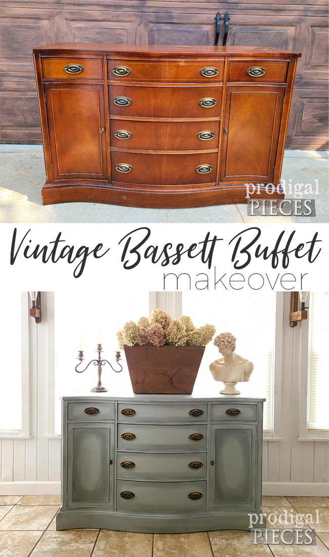 This vintage Bassett buffet needed some TLC and a new lease on life. See the DIY details at Prodigal Pieces | prodigalpieces.com #prodigalpieces #diy #furniture #home #homedecor