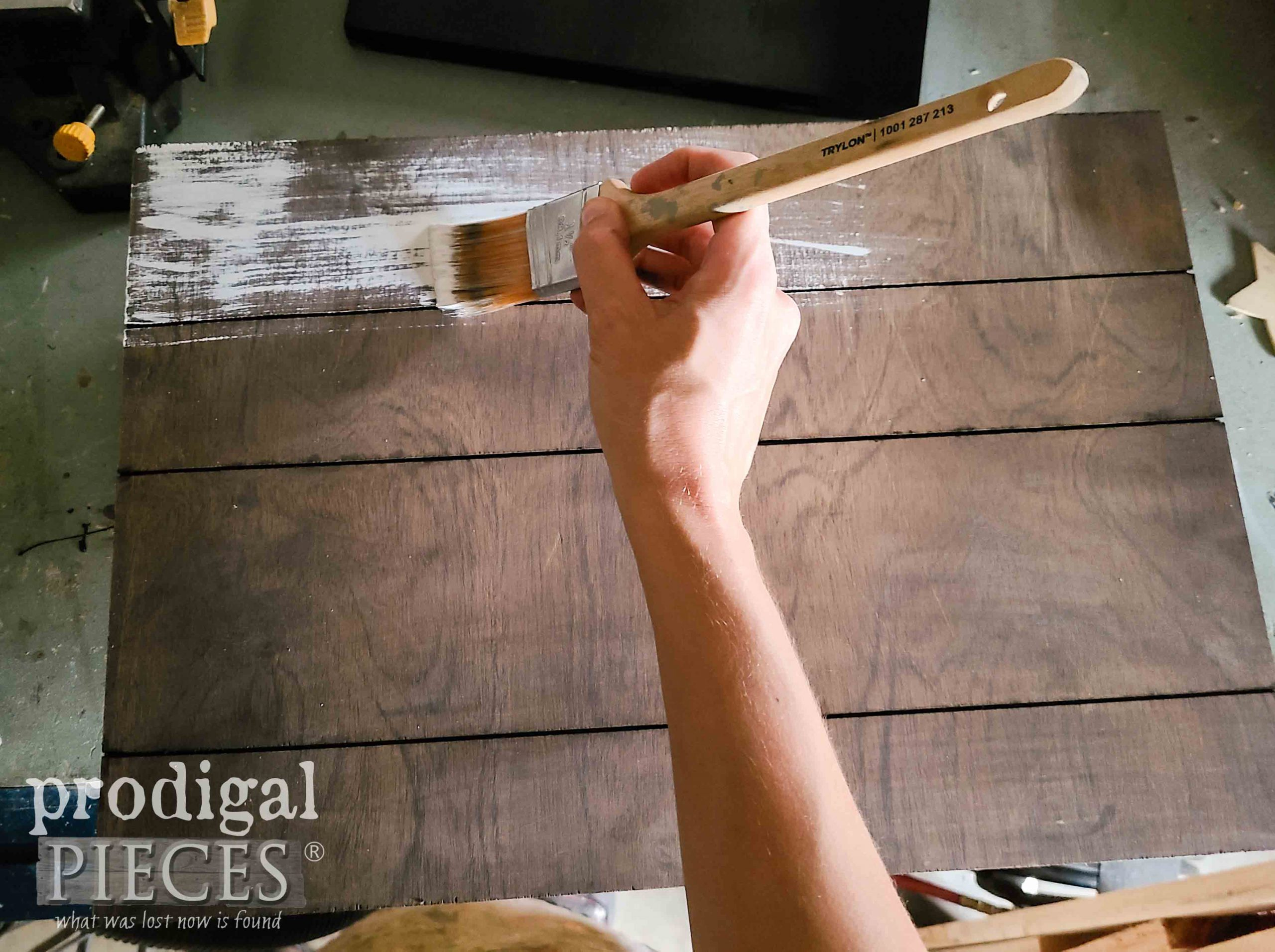 Whitewashing DIY Harvest Sign by Prodigal Pieces | prodigalpieces.com