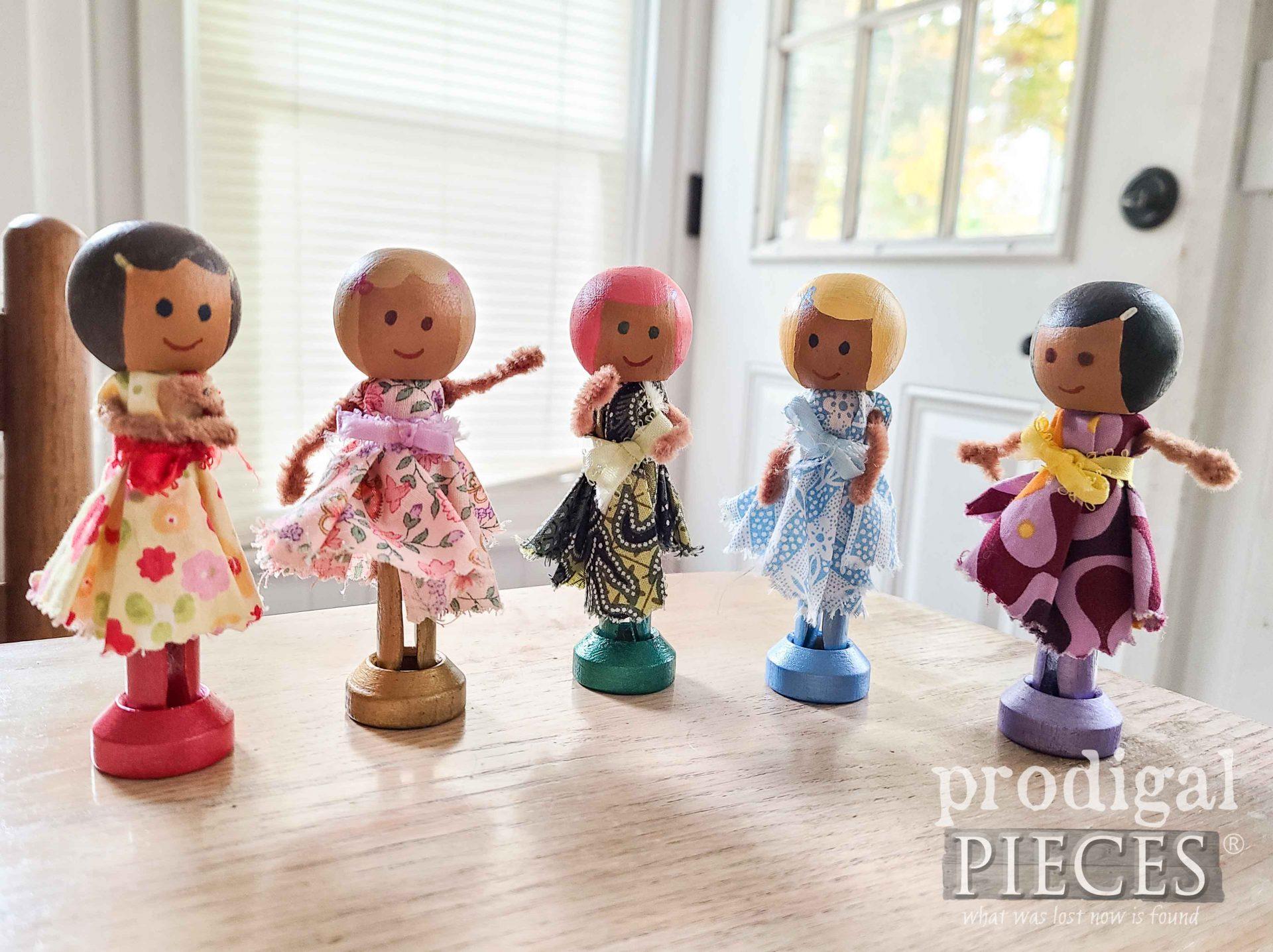 DIY Clothespin Dolls | prodigalpieces.com
