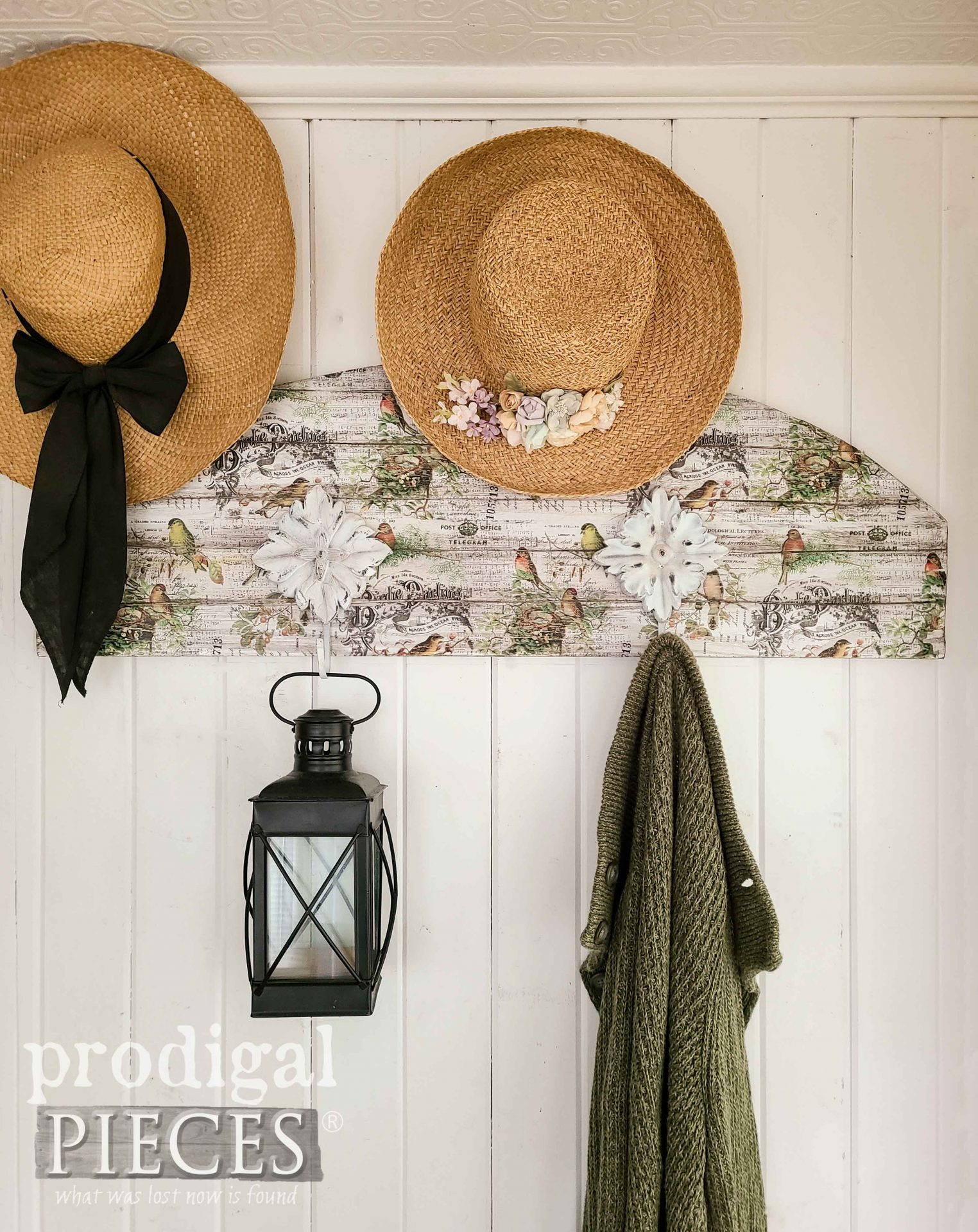 You can make this cottage style coat rack with scraps and thrifted finds | Details at Prodigal Pieces | prodigalpieces.com #prodigalpieces #diy #home #homedecor