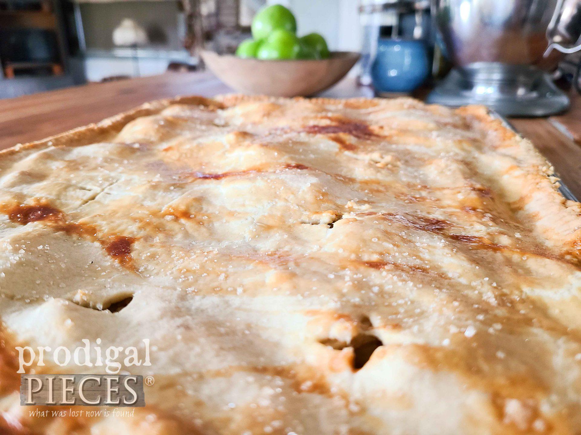 Apple Jack Crust Closeup | prodigalpieces.com #prodigalpieces #food #recipe #apple #dessert