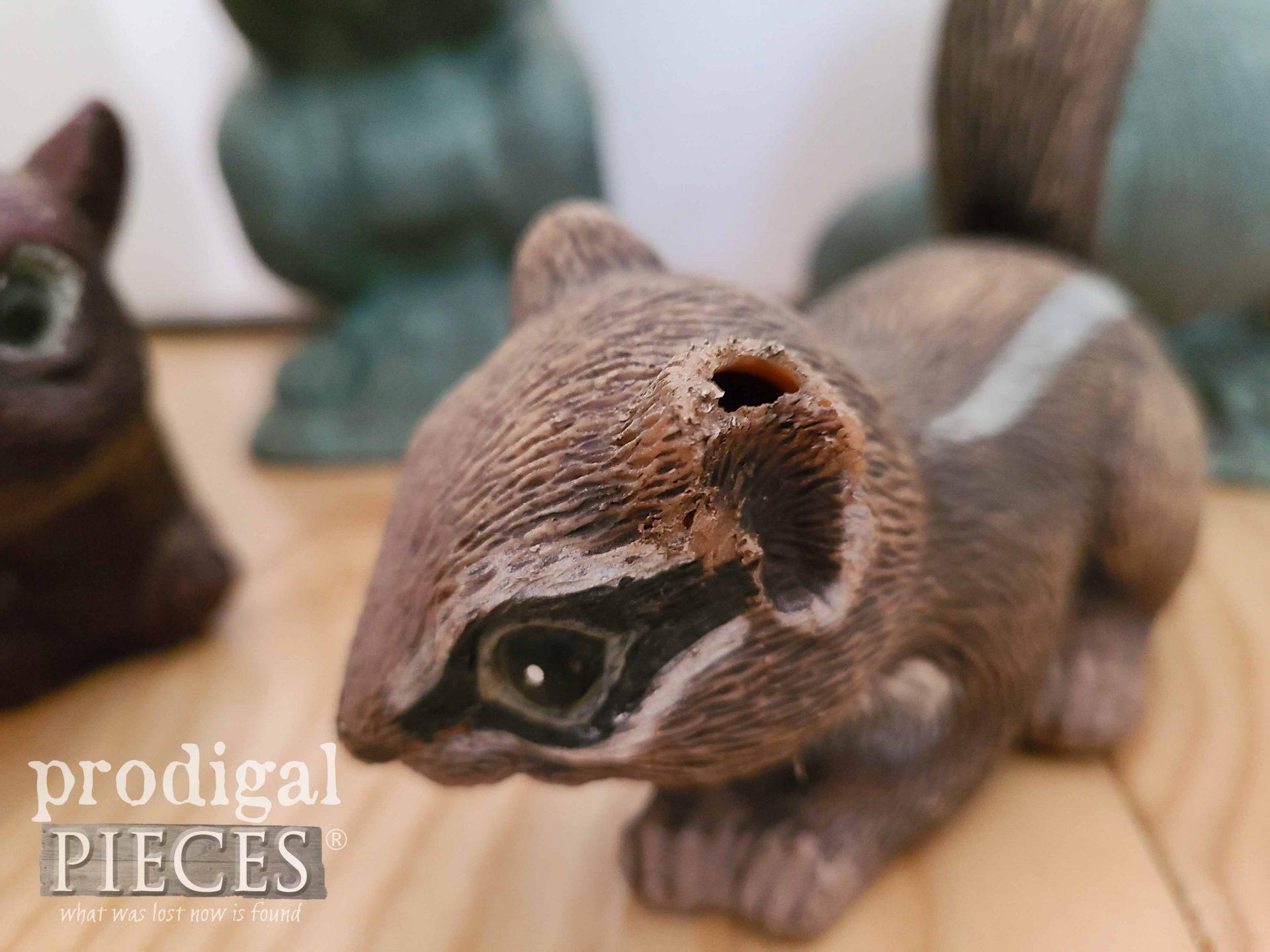 Damaged Chipmunk Sculpture | prodigalpieces.com