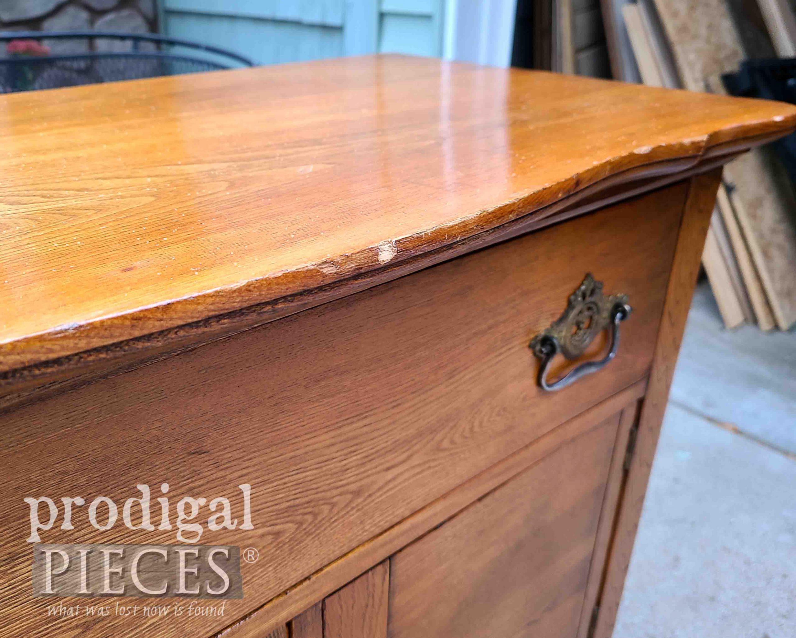 Damaged Wash Stand Top   prodigalpieces.com