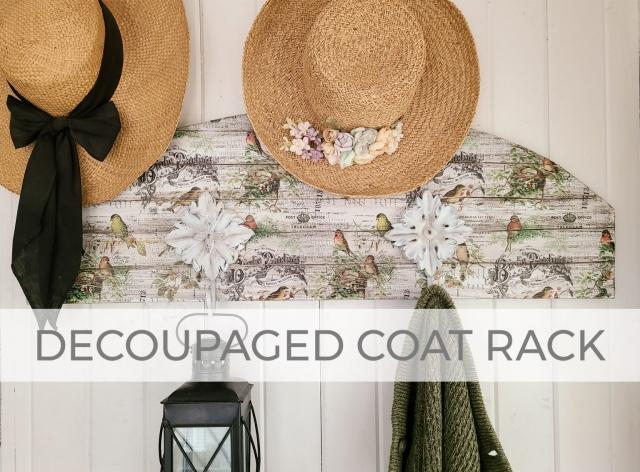 DIY Decoupaged Coat Rack by Larissa of Prodigal Pieces | prodigalpieces.com #prodigalpieces