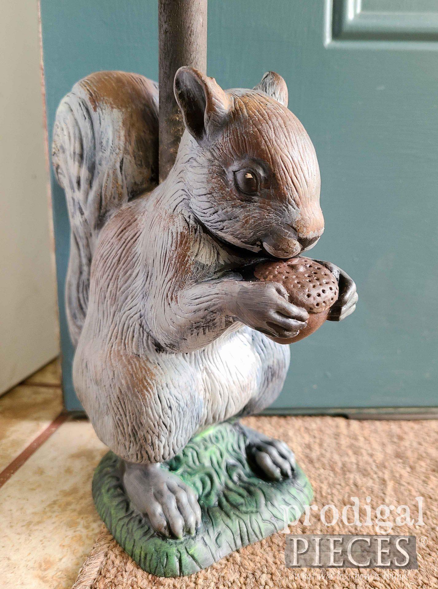 Farmhouse Gray Squirrel Doorstop by Larissa of Prodigal Pieces | prodigalpieces.com #prodigalpieces #diy #home #farmhouse #homedecor