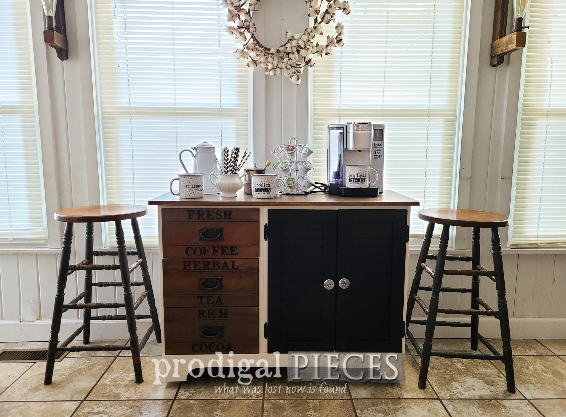 Featured DIY Coffee Bar with Drop-Leaf by Larissa of Prodigal Pieces | prodigalpieces.com #prodigalpieces #diy #home #furniture #homedecor #coffee
