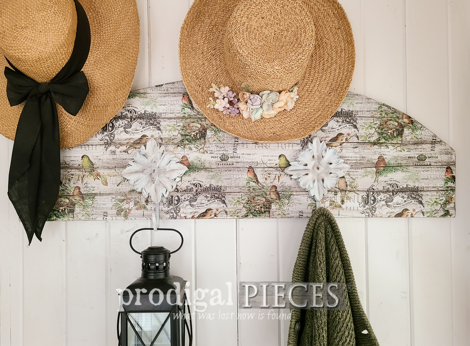 Featured DIY Decoupaged Coat Rack by Larissa of Prodigal Pieces | prodigalpieces.com #prodigalpieces #diy #home #homedecor #cottage #handmade