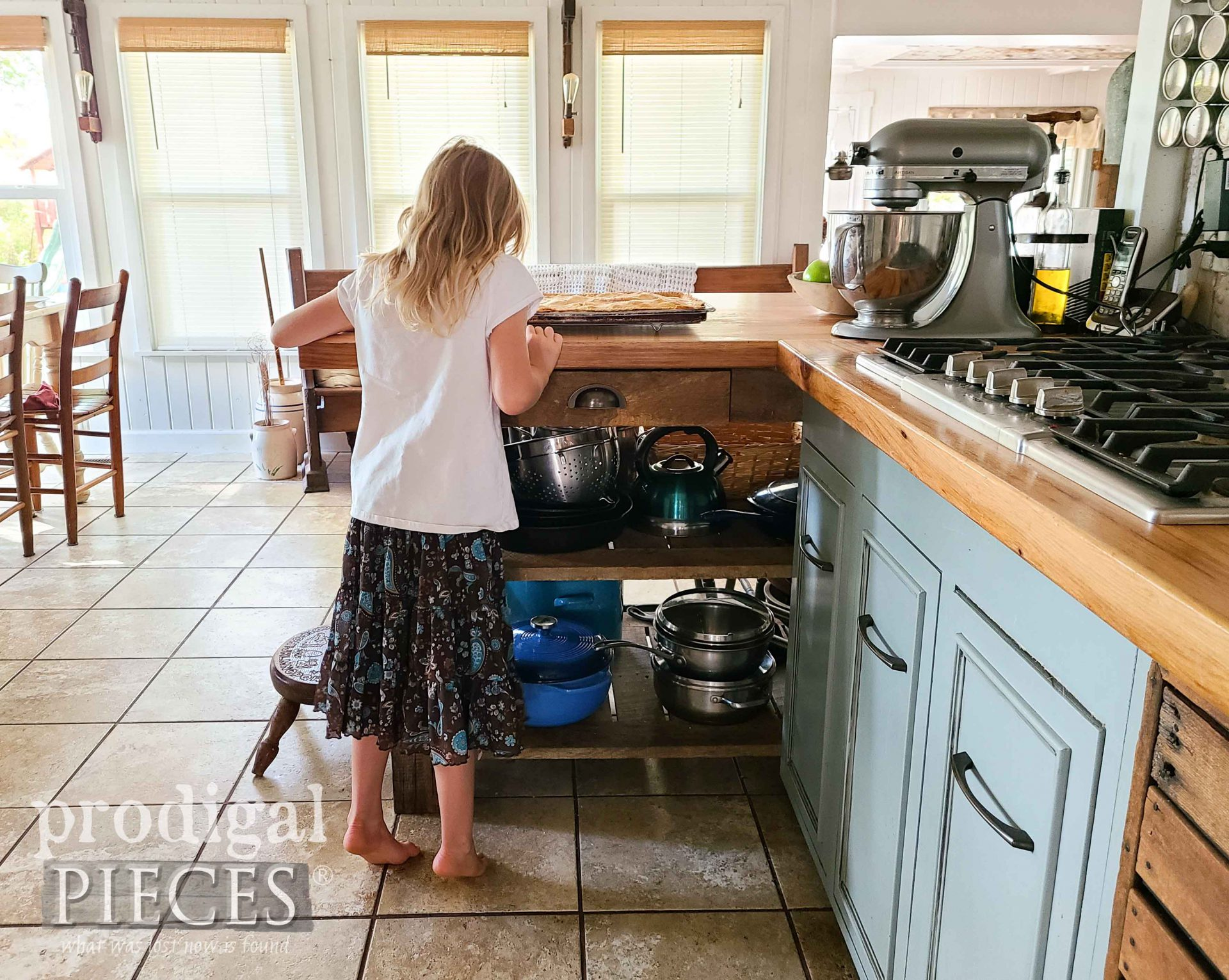 Girls Smelling Freshly Baked Apple Jack Dessert by Larissa of Prodigal Pieces   prodigalpieces.com #prodigalpieces #food #recipe #dessert #baking #thanksgiving