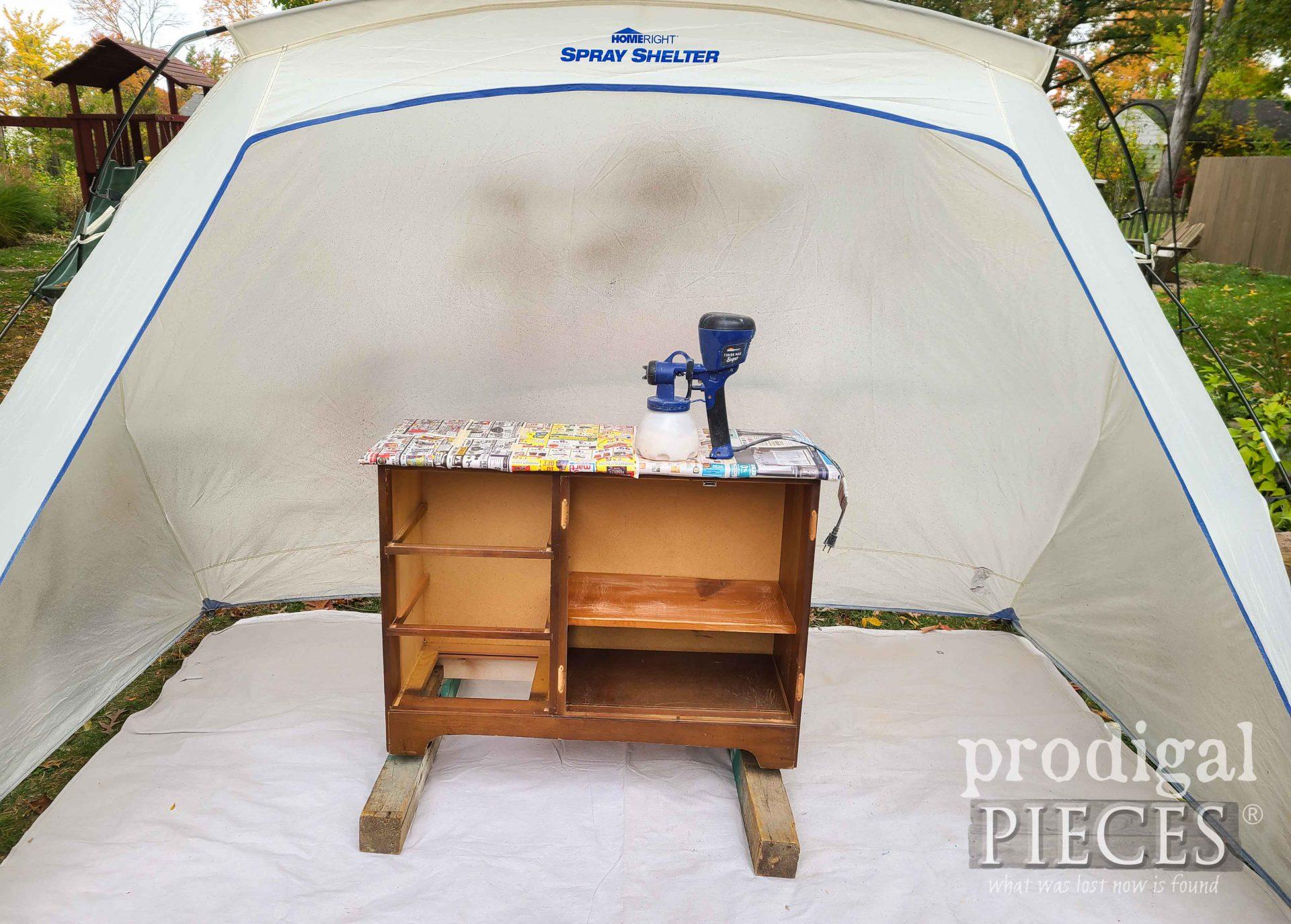 HomeRight Larger Spray Shelter with Larissa of Prodigal Pieces | prodigalpieces.com