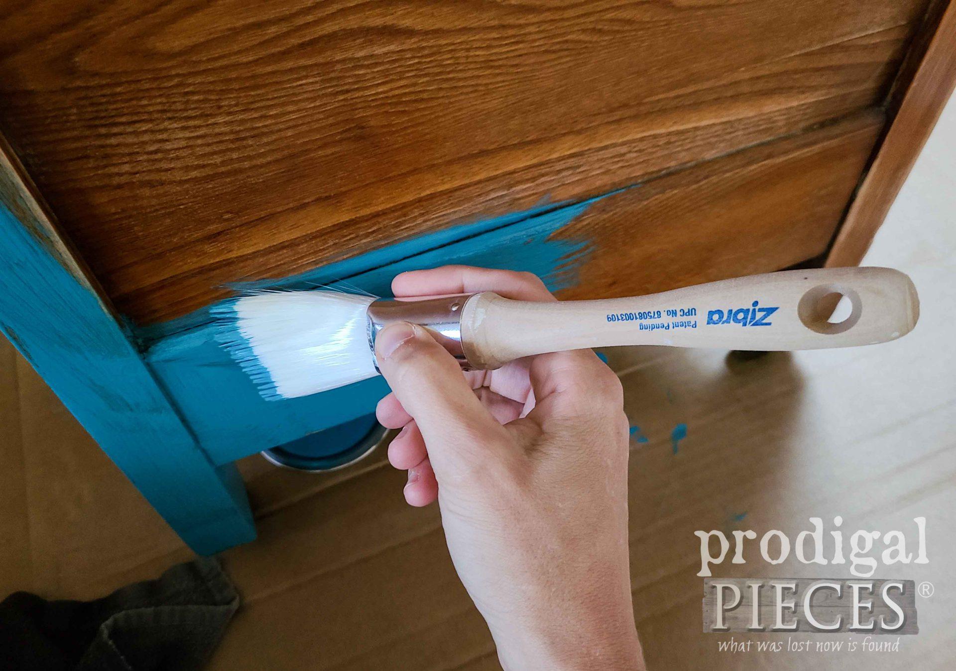 Painting Wash Stand Bermuda Blue   prodigalpieces.com #prodigalpieces