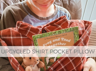 Upcycled Shirt Pocket Pillow for Gifts ~ Tutorial by Larissa of Prodigal Pieces | prodigalpieces.com #prodigalpieces