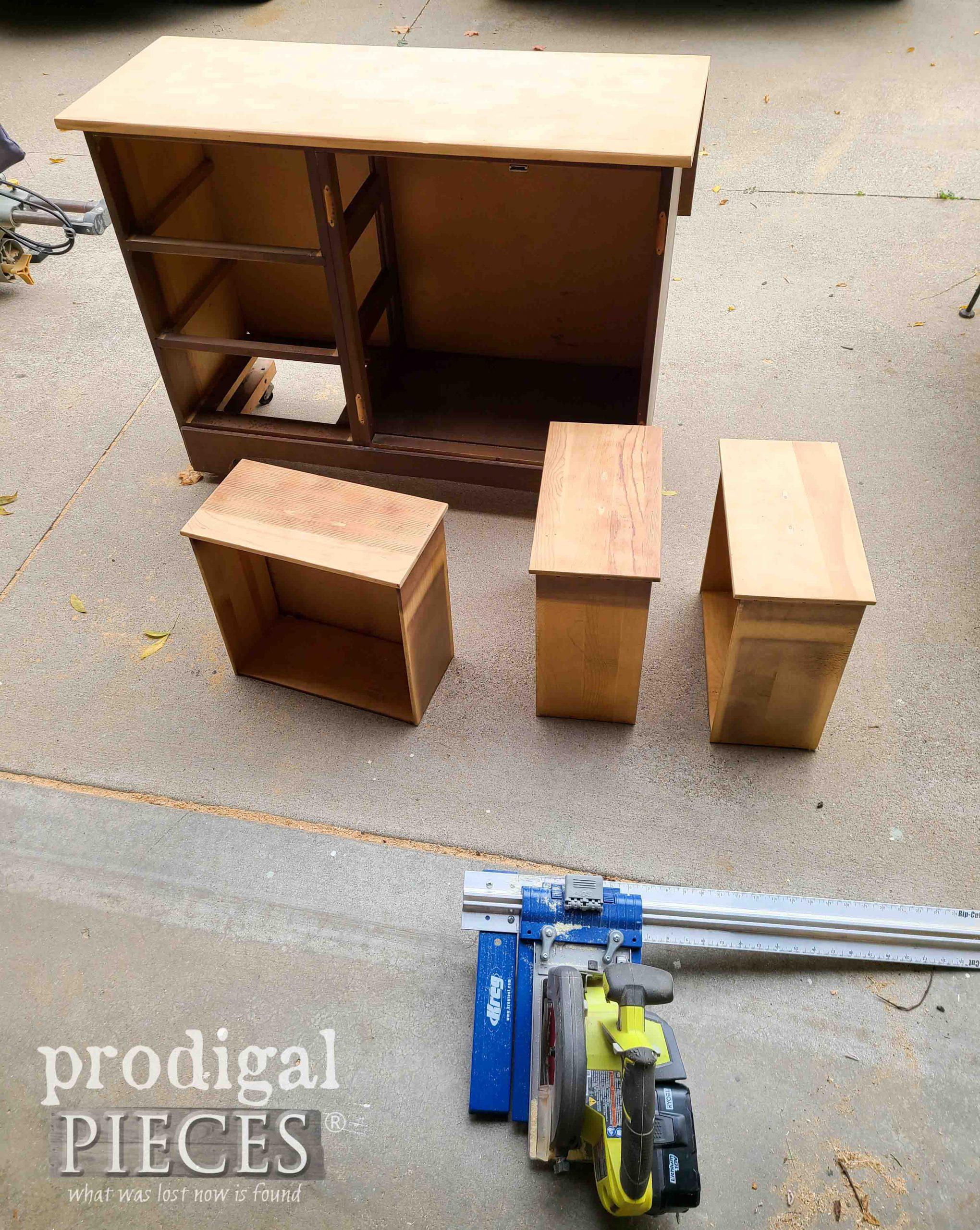 Rebuilding Vintage Cabinet for DIY Coffee Bar | prodigalpieces.com