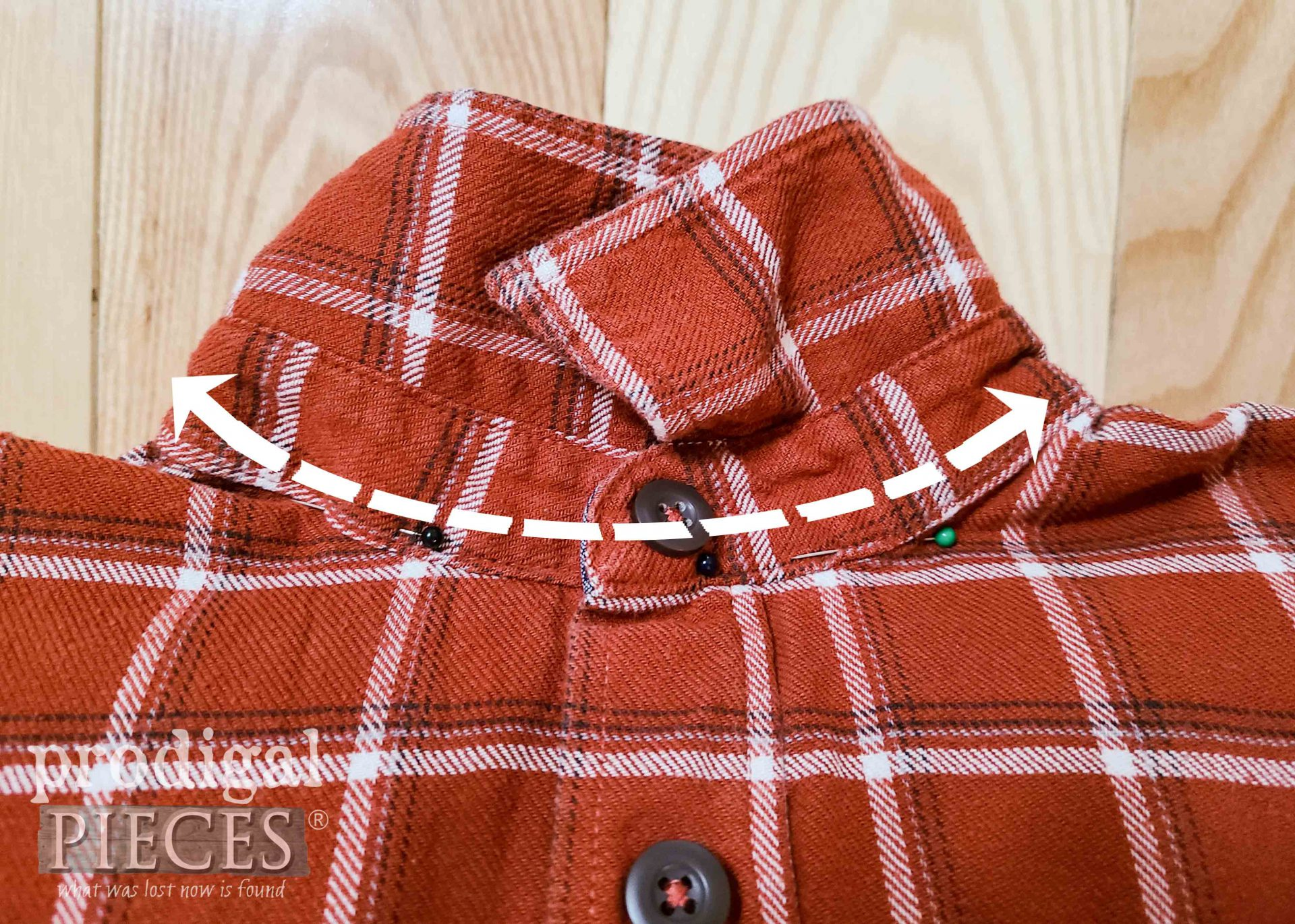 Sewing Upcycled Shirt Pocket Pillow by Larissa of Prodigal Pieces | prodigalpieces.com