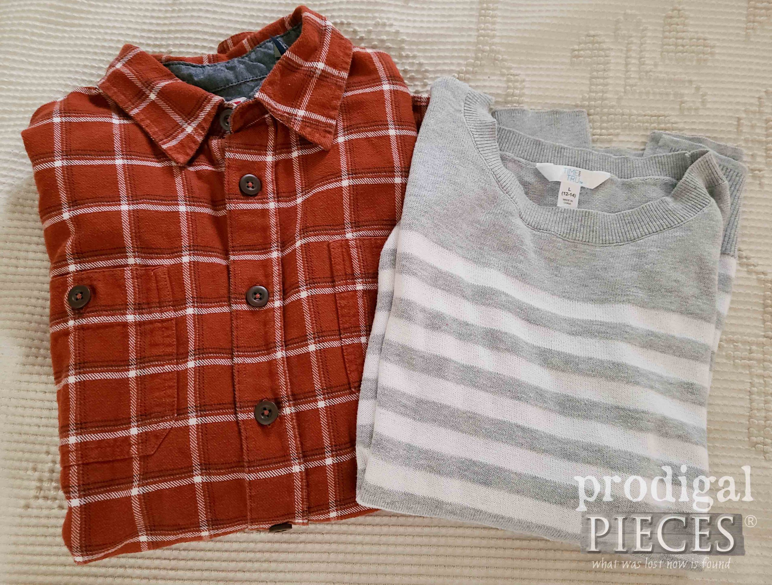 Shirt & Sweater for Making Upcycled Shirt Pocket Pillow | by Prodigal Pieces | prodigalpieces.com