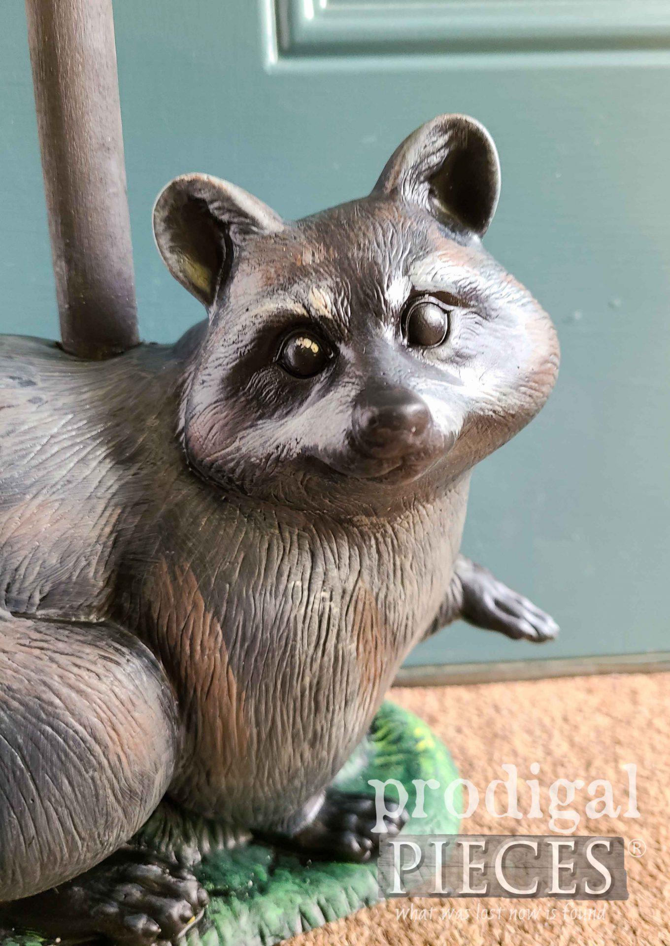 Smiling Raccoon DIY Doorstop by Larissa of Prodigal Pieces | prodigalpieces.com #prodigalpieces #diy #home #farmhouse #woodland