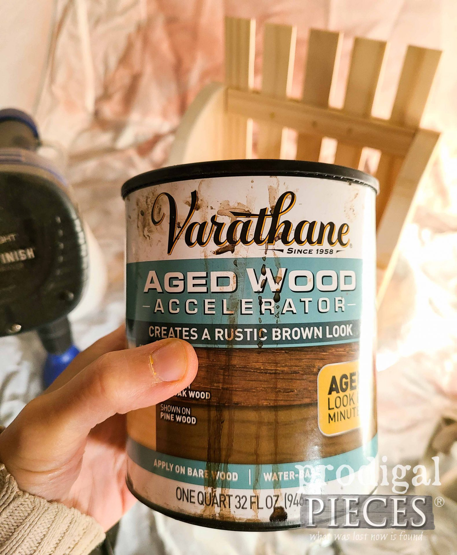 Aged Wood Accelerator Stain for DIY Wall Pocket | prodigalpieces.com
