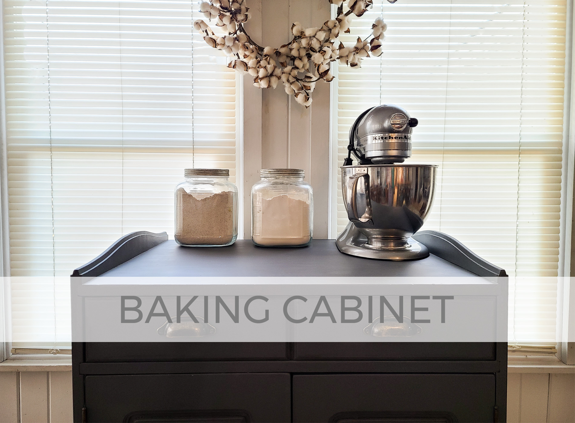 Farmhouse Baking Cabinet Makeover by Larissa of Prodigal Pieces | prodigalpieces.com #prodigalpieces
