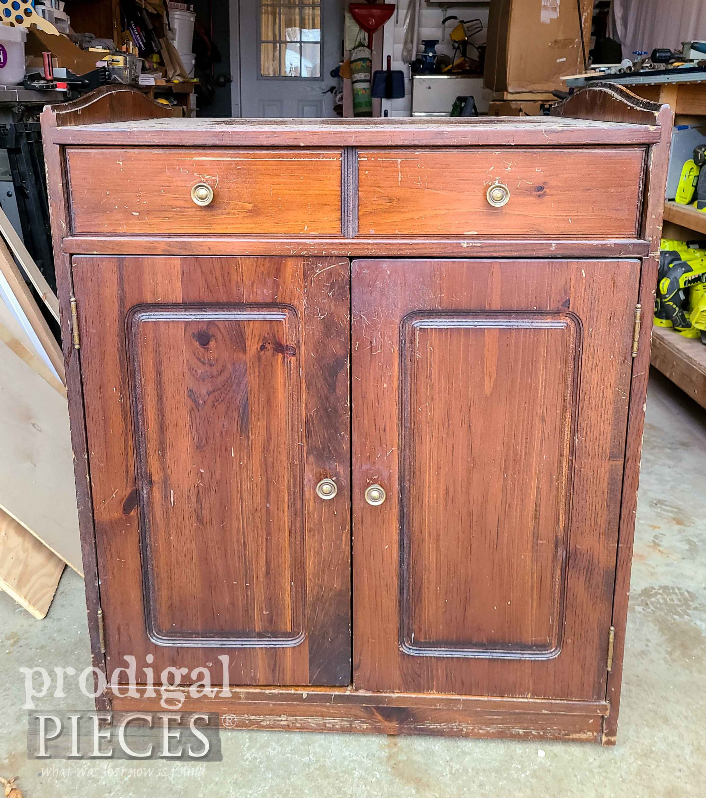 Baking Cabinet Before Makeover by Larissa of Prodigal Pieces | prodigalpieces.com #prodigalpieces