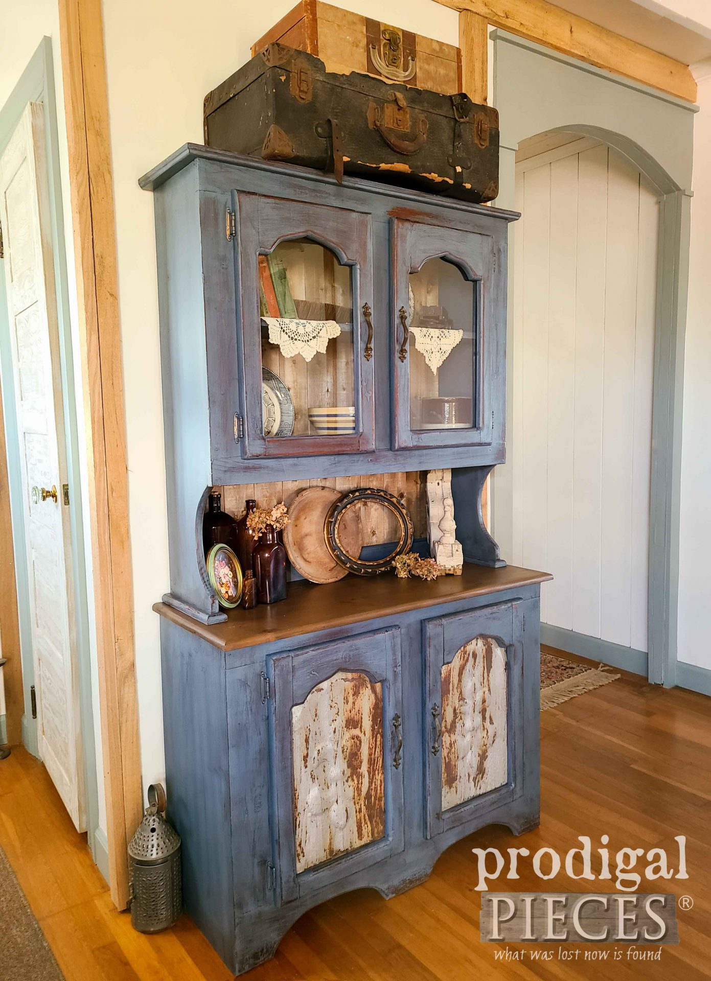 Chippy Blue Hutch by Larissa of Prodigal Pieces | prodigalpieces.com #prodigalpieces #furniture #home #farmhouse #homedecor #diy