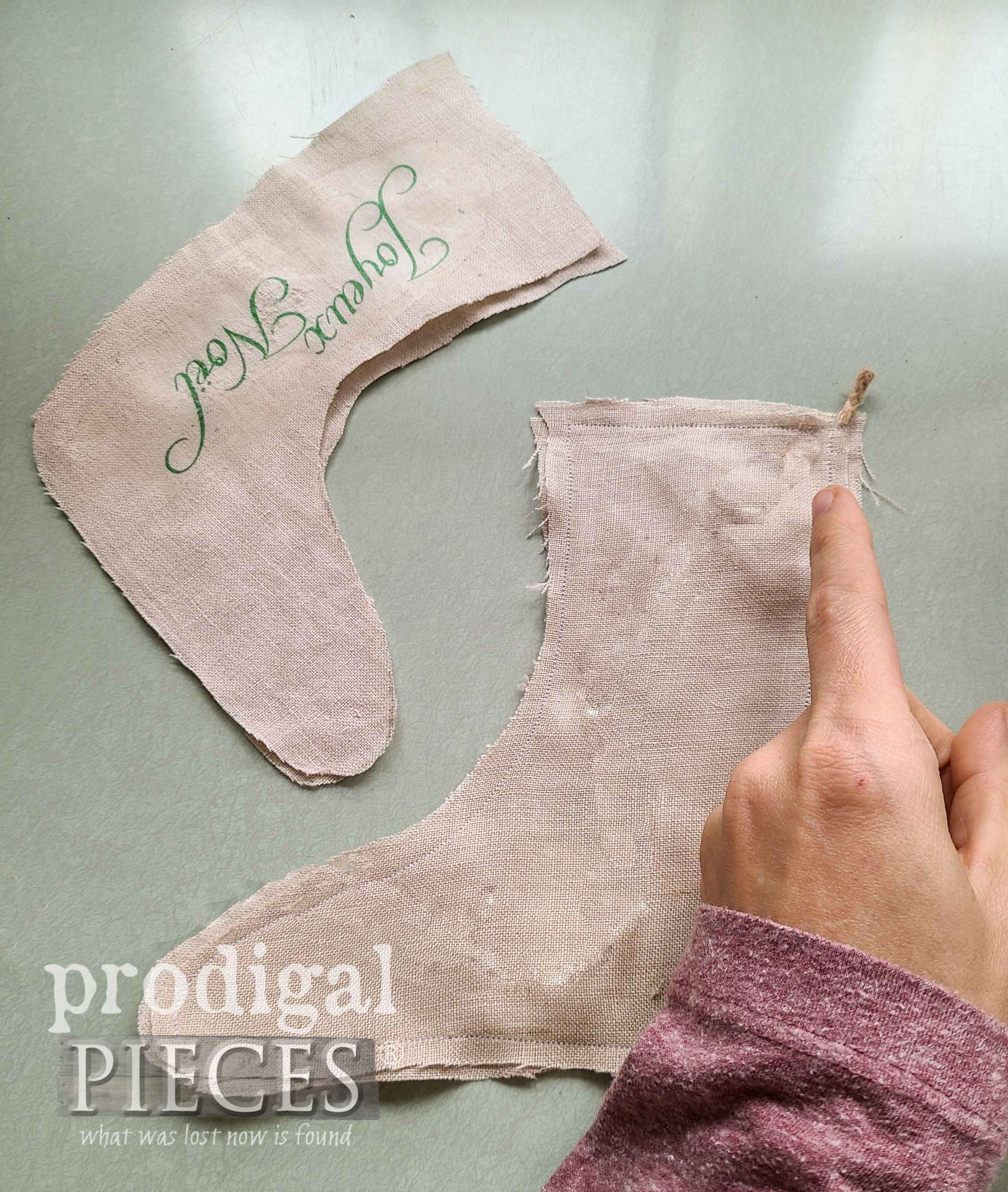 Cut Rustic Linen Stockings by Prodigal Pieces | prodigalpieces.com