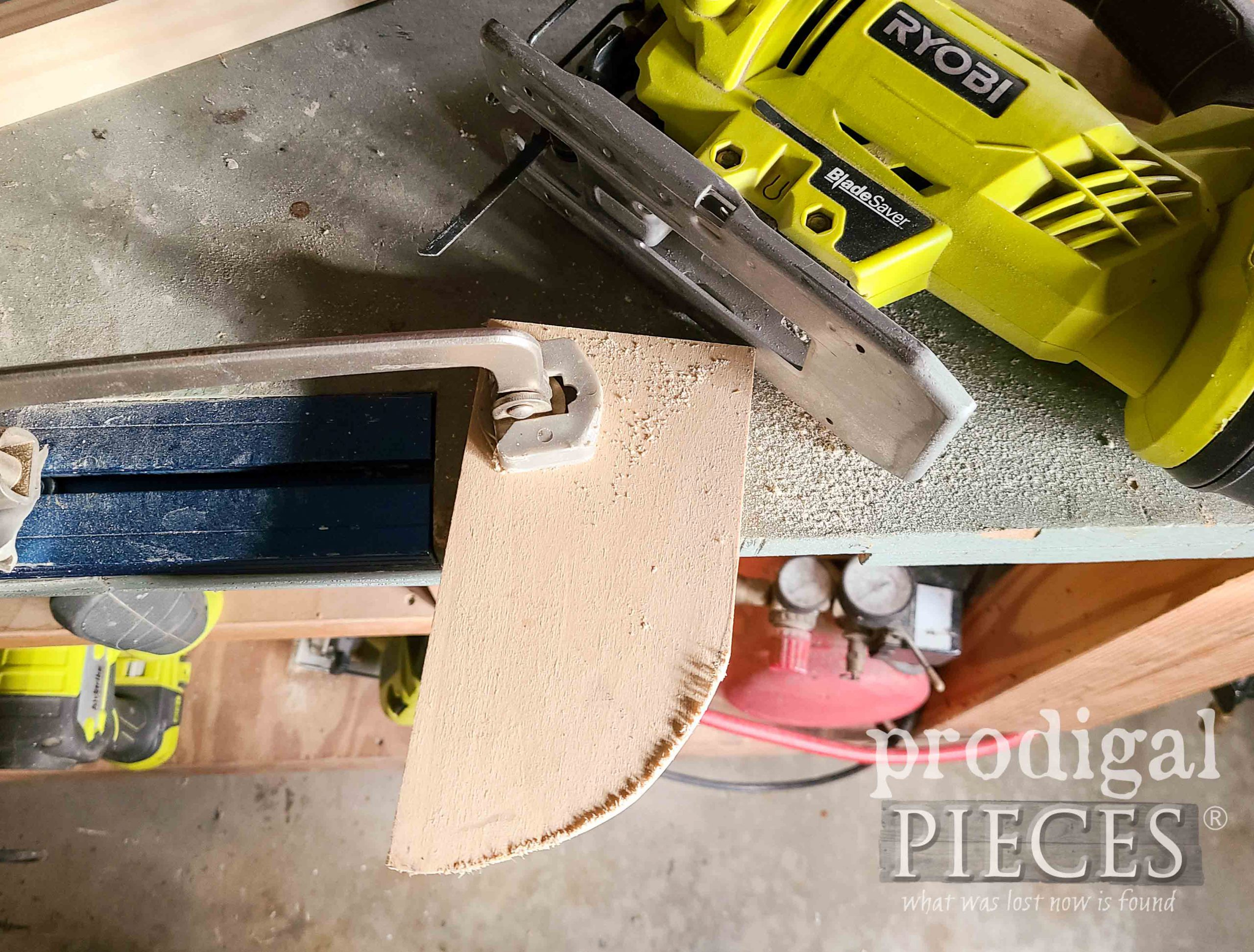 Cutting Scrap Wood for DIY Wall Pocket by Larissa of Prodigal Pieces | prodigalpieces.com #prodigalpieces