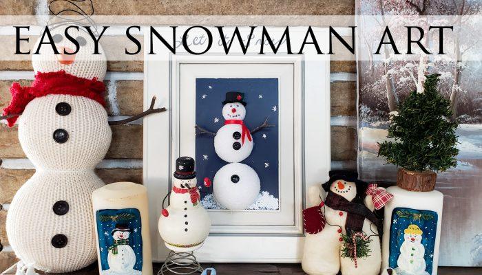 Easy Snowman Wall Art