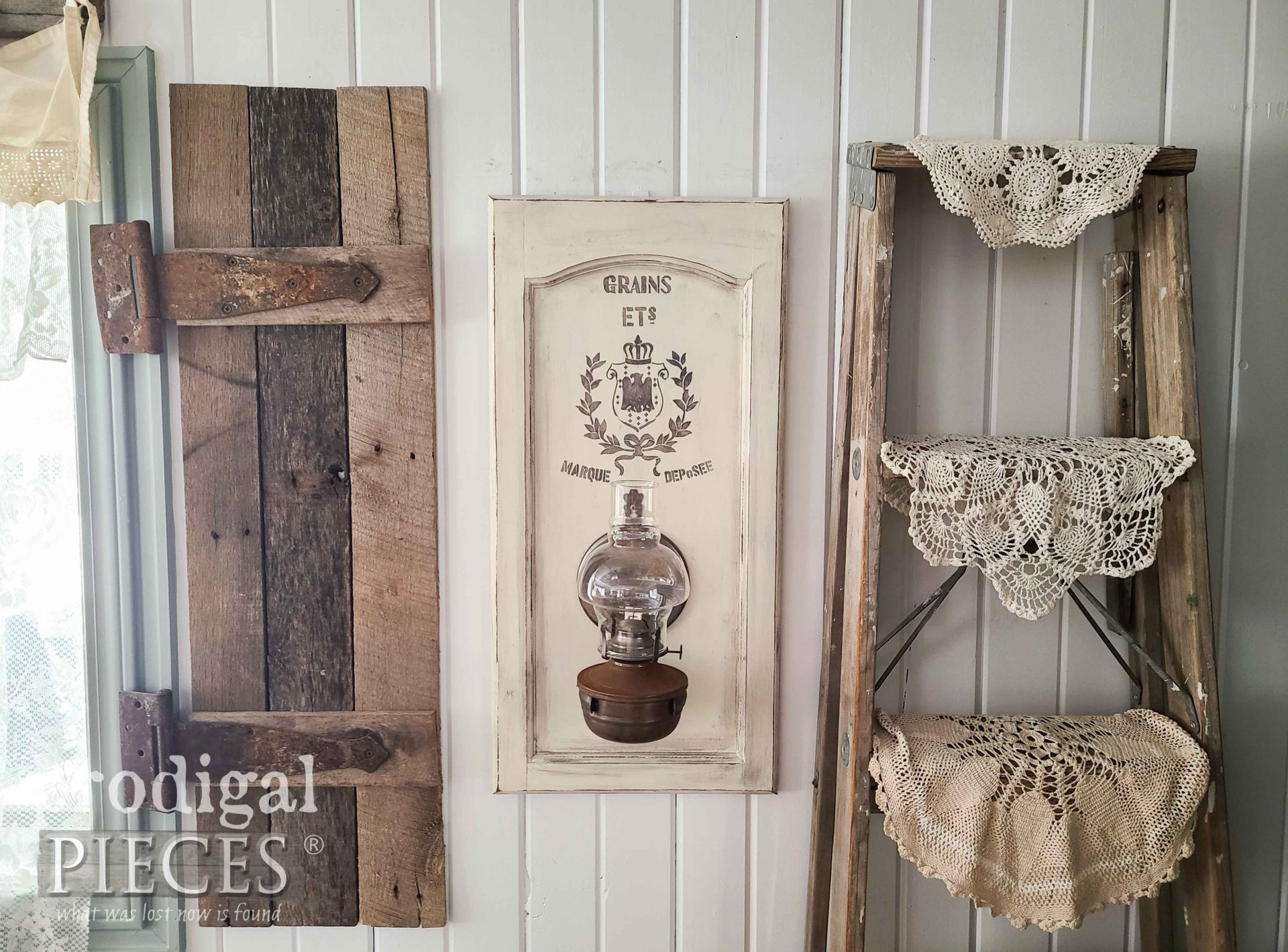 Farmhouse Oil Lamp ~ Chic Decor from Salvaged Finds by Larissa of Prodigal Pieces | prodigalpieces.com #prodigalpieces #farmhouse #home #homedecor