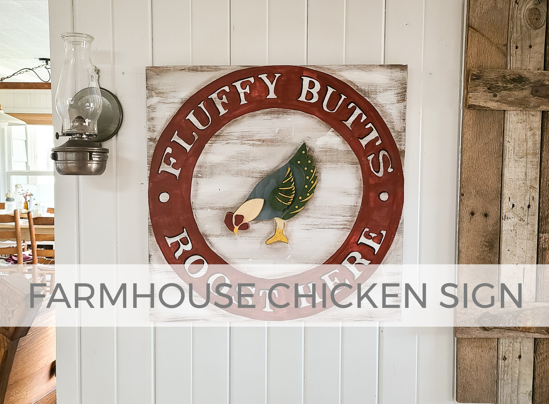DIY Farmhouse Chicken Sign Created by Larissa of Prodigal Pieces | prodigalpieces.com #prodigalpieces