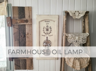 Rustic Chic Farmhouse Oil Lamp by Larissa of Prodigal Pieces   prodigalpieces.com #prodigalpieces