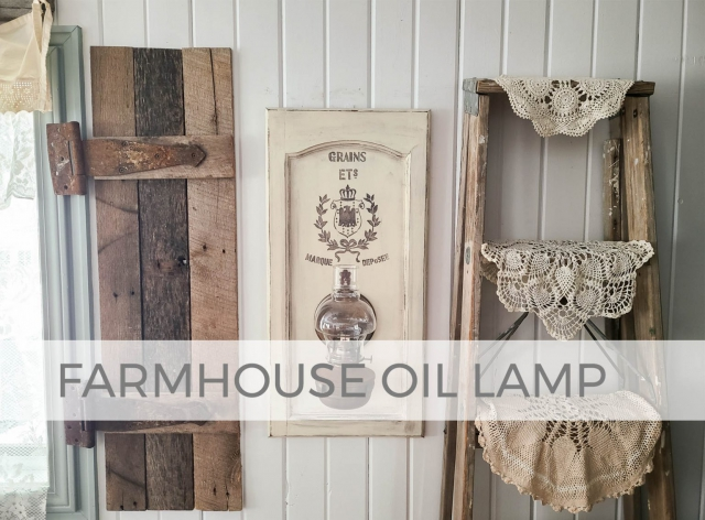 Rustic Chic Farmhouse Oil Lamp by Larissa of Prodigal Pieces | prodigalpieces.com #prodigalpieces