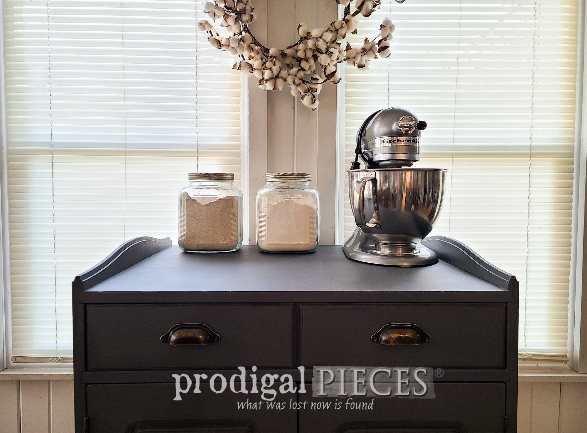 Featured Farmhouse Baking Cabinet by Larissa of Prodigal Pieces | prodigalpieces.com #prodigalpieces #farmhouse #furniture #diy #home #homedecor #kitchen #storage