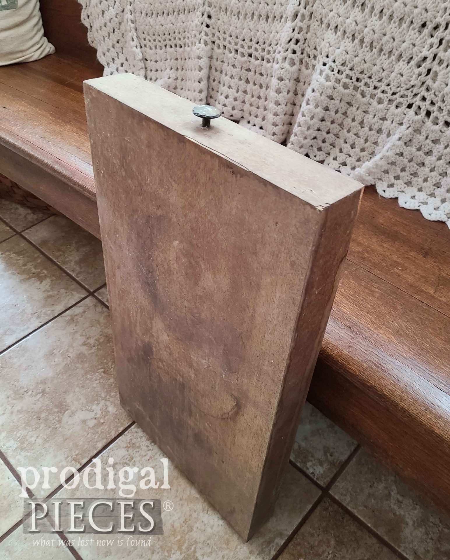 Folding Table Before Makeover by Prodigal Pieces | prodigalpieces.com #prodigalpieces