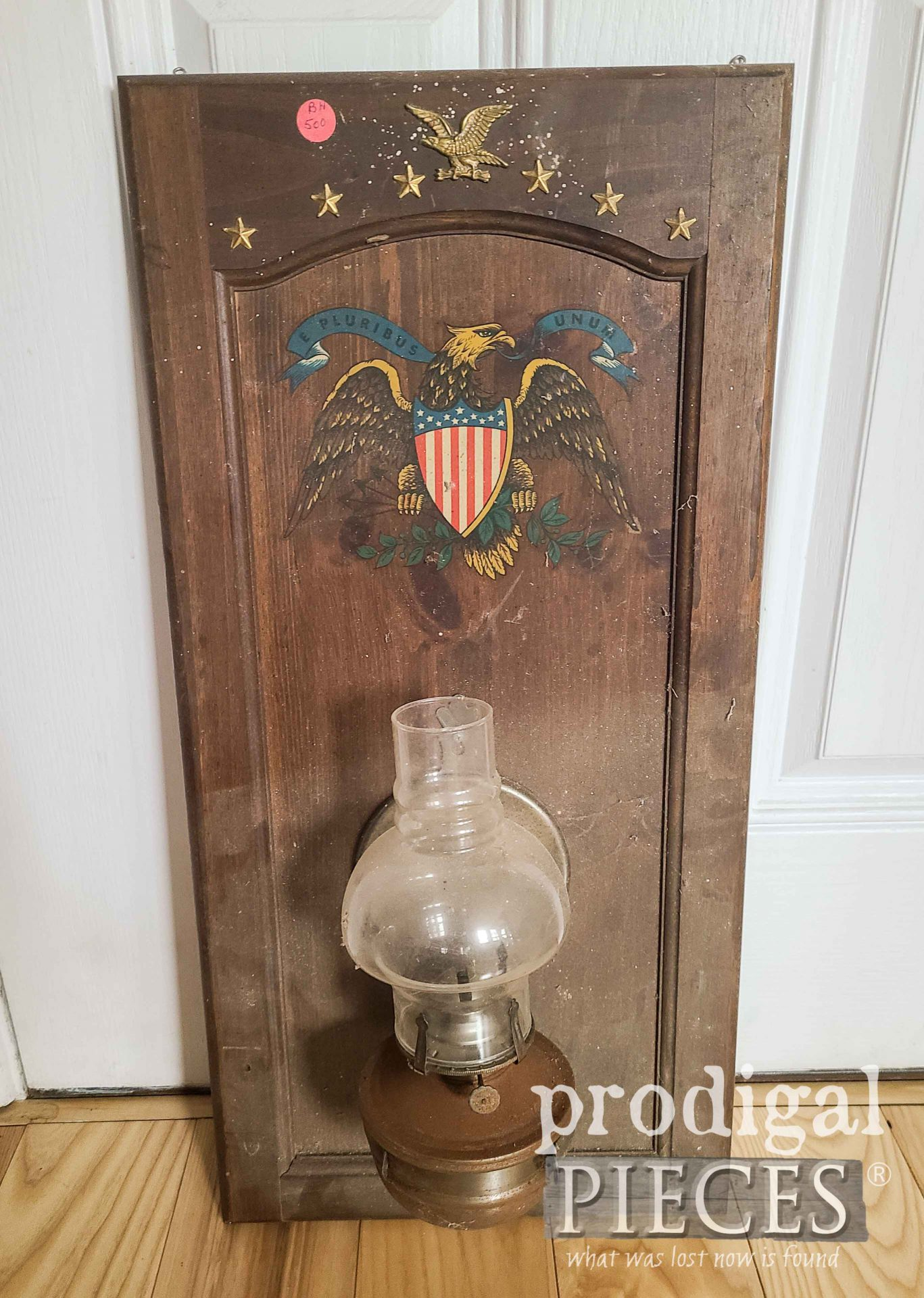 Oil Lamp Wall Art Before | prodigalpieces.com
